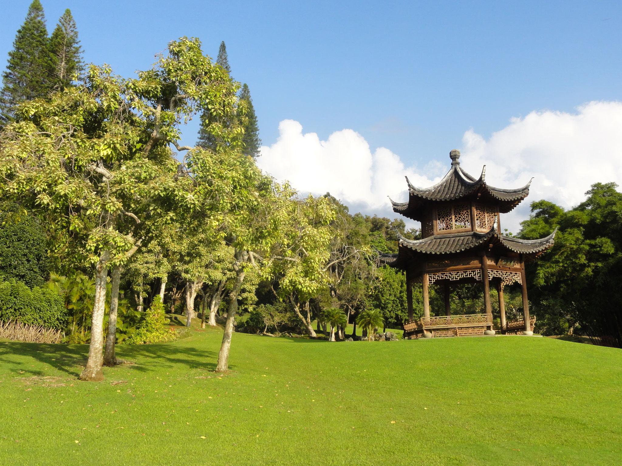 Park beim Hotel Koele Lodge, Lanai