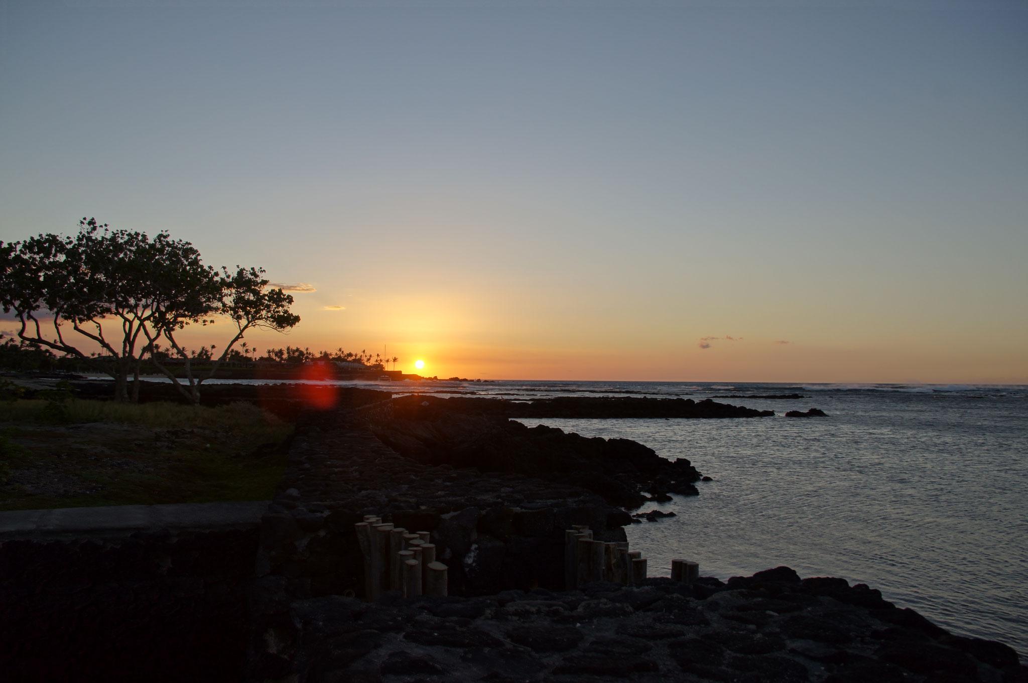 und abends erneut ein wunderschöner Sonnenuntergang