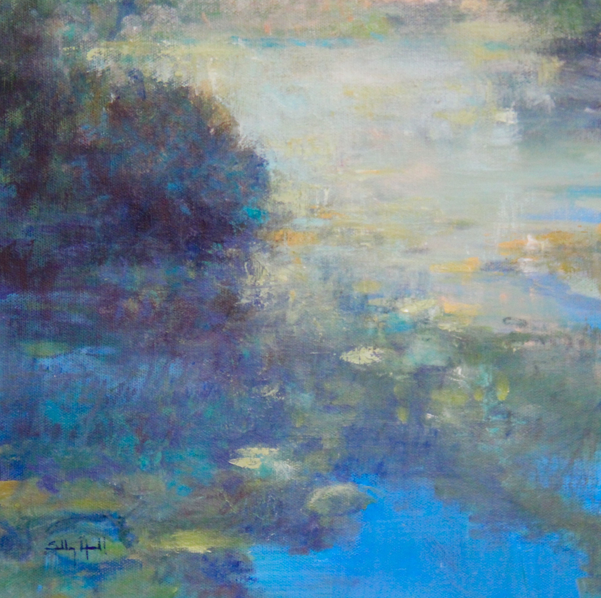"Morning Wakes Lake Lily - 10""x10"""