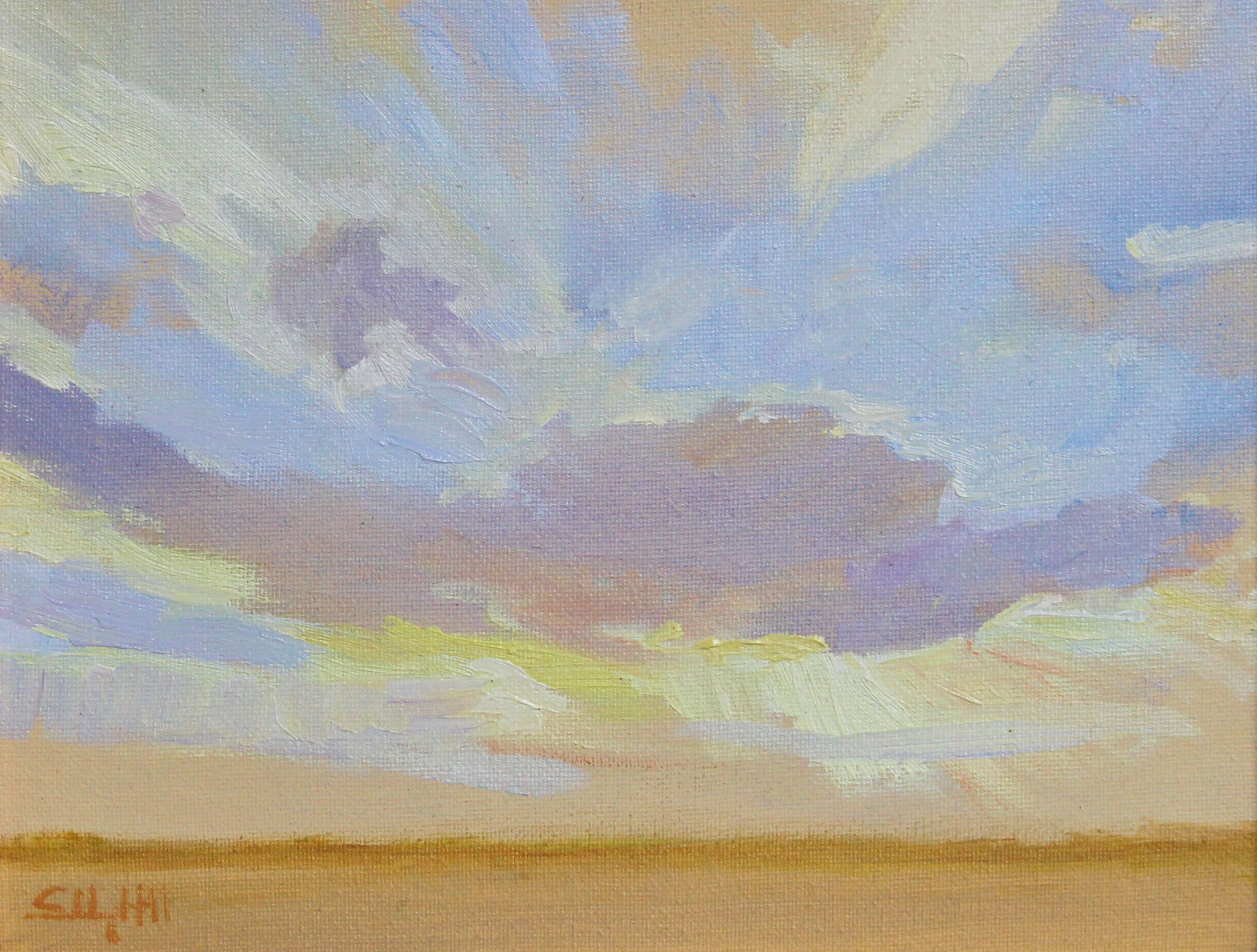 "Sunset at Starr Farm -oil 10""x8"""