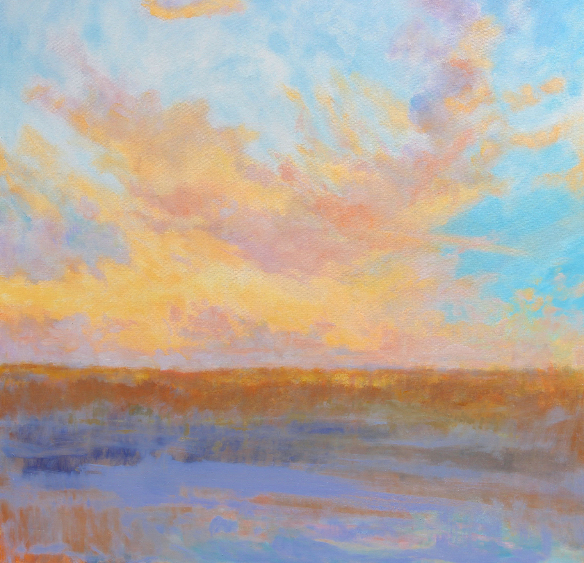 "Gypsy Clouds at Sunset- oil- 36""x36"""