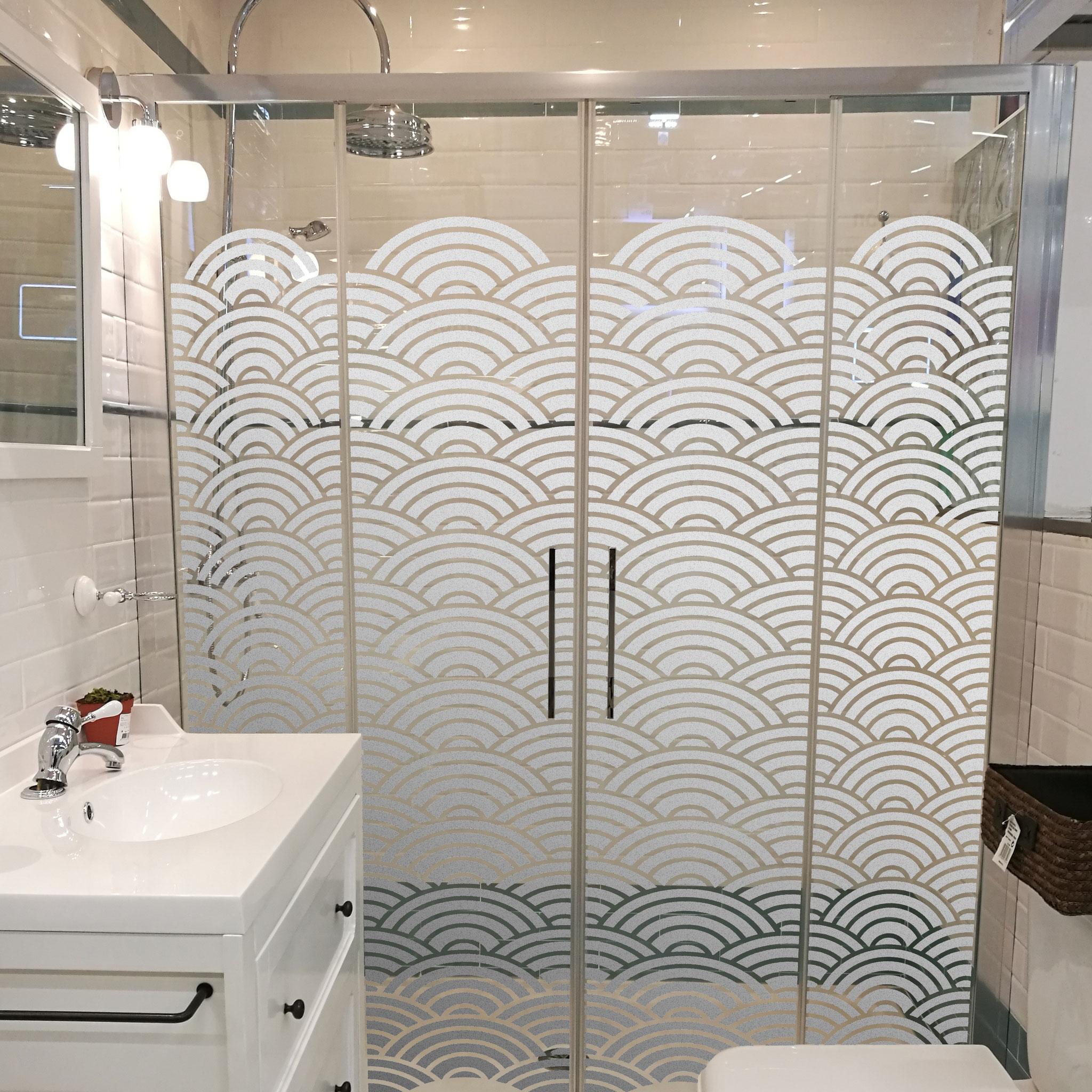 retovinilo, vinilos decorativos, vinilos, acido, glass, traslucido, mamparas, cristal, baño, intimidad