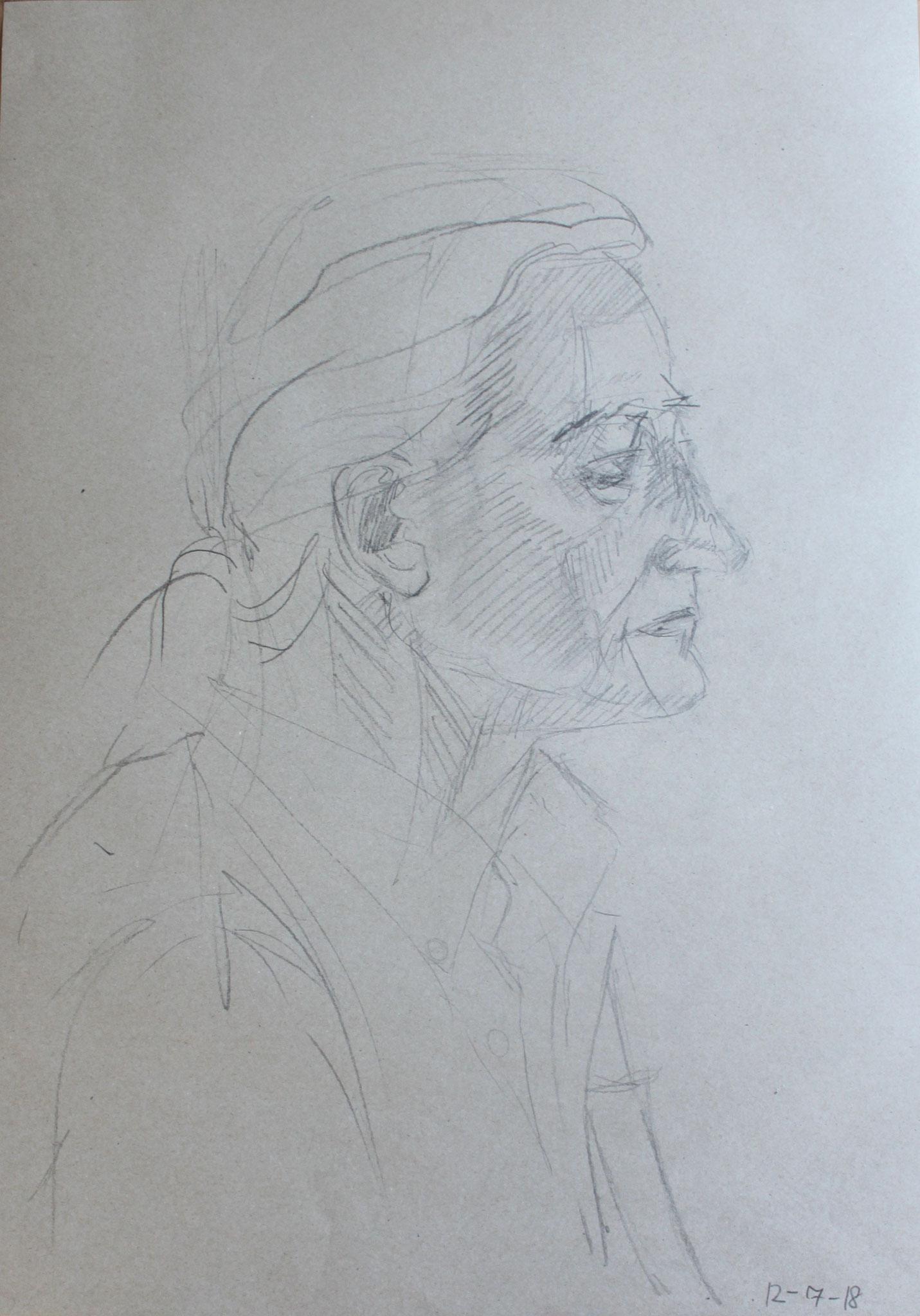 Gerhard, Bleistift auf Papier, 2018, 60 cm x 42 cm