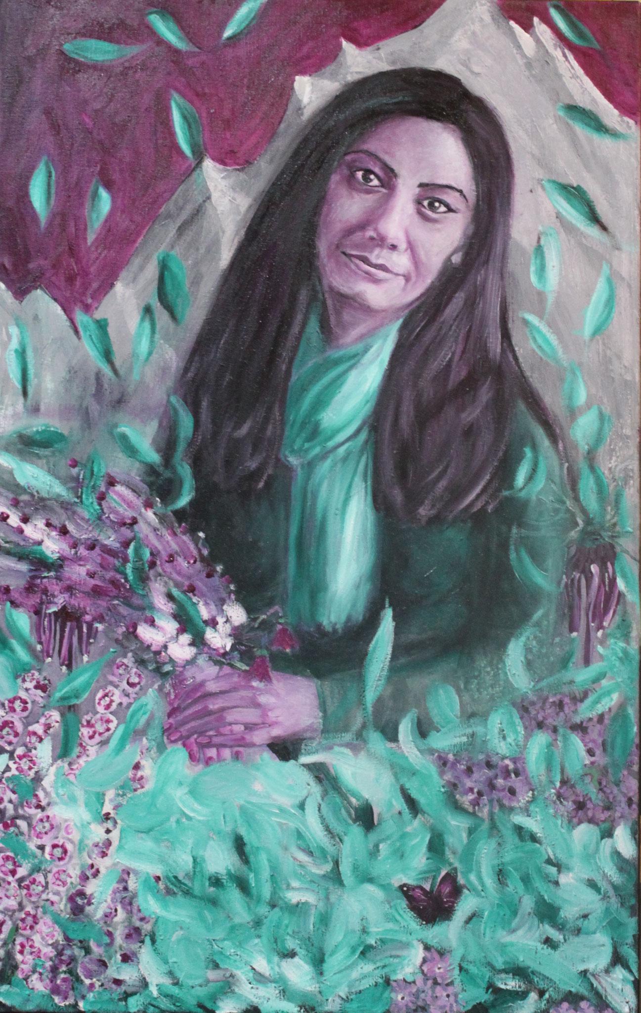 Marwa, Öl auf Leinwand, 110 cm x 70 cm, 2015