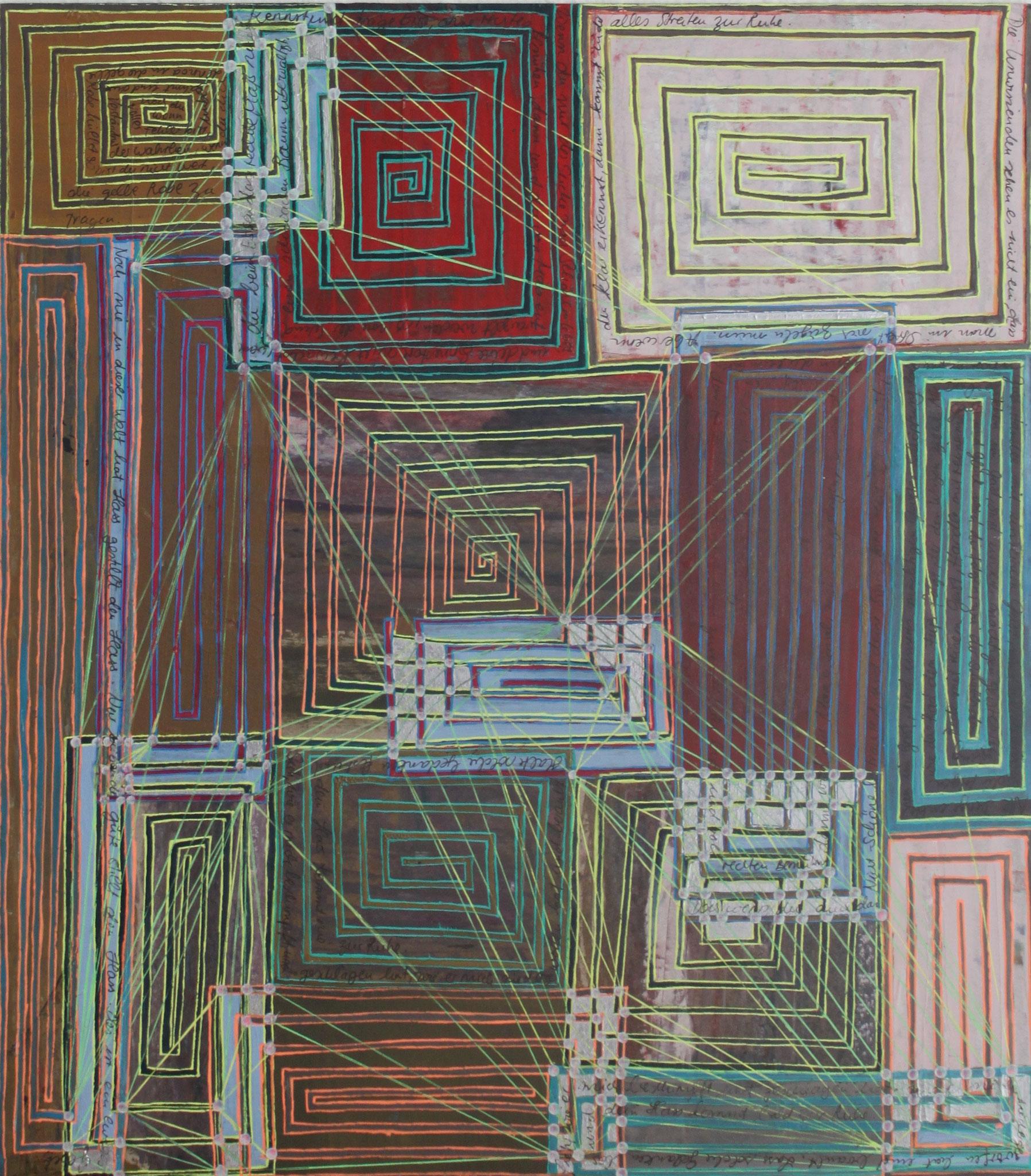 Sakura 1 - Die Wahl; Mischtechnik auf Karton; 42 cm x 37 cm; 2018