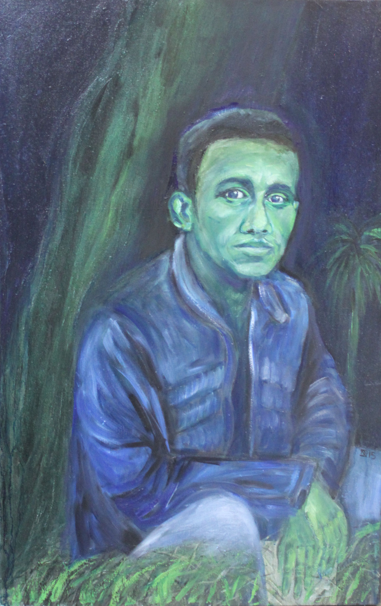 Kamal, Öl auf Leinwand, 110 cm x 70 cm, 2015