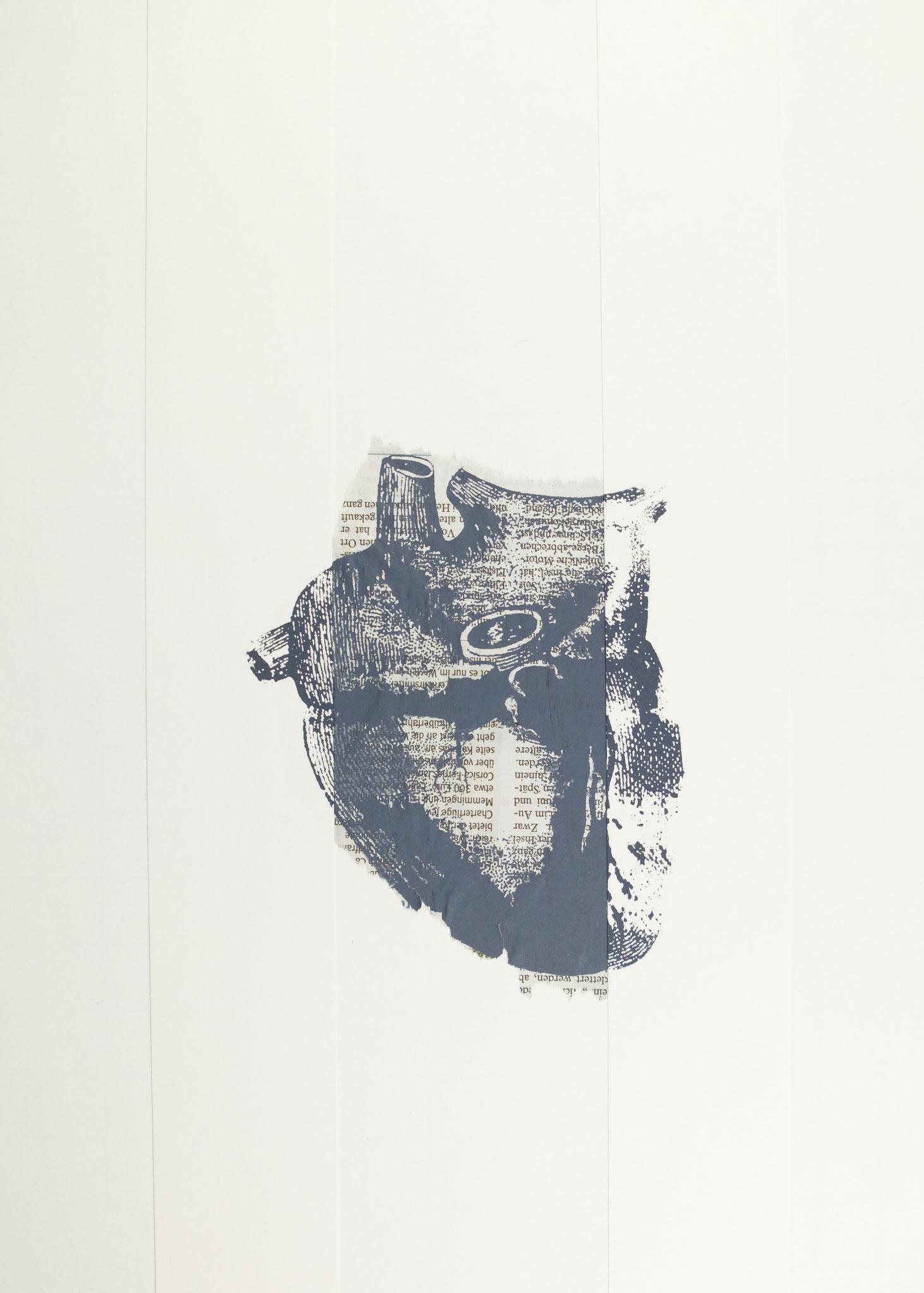herz 34 | siebdruck, collage | 42x29,7cm | 2019