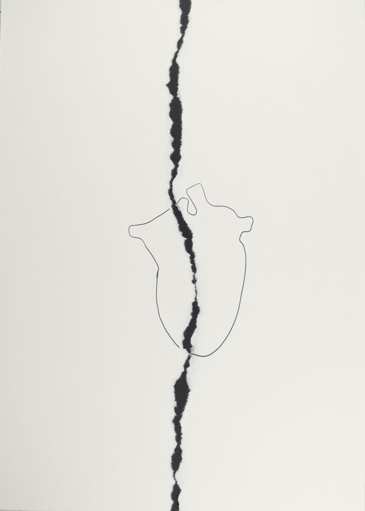 herz 91 | siebdruck | 42x29,7cm | 2019