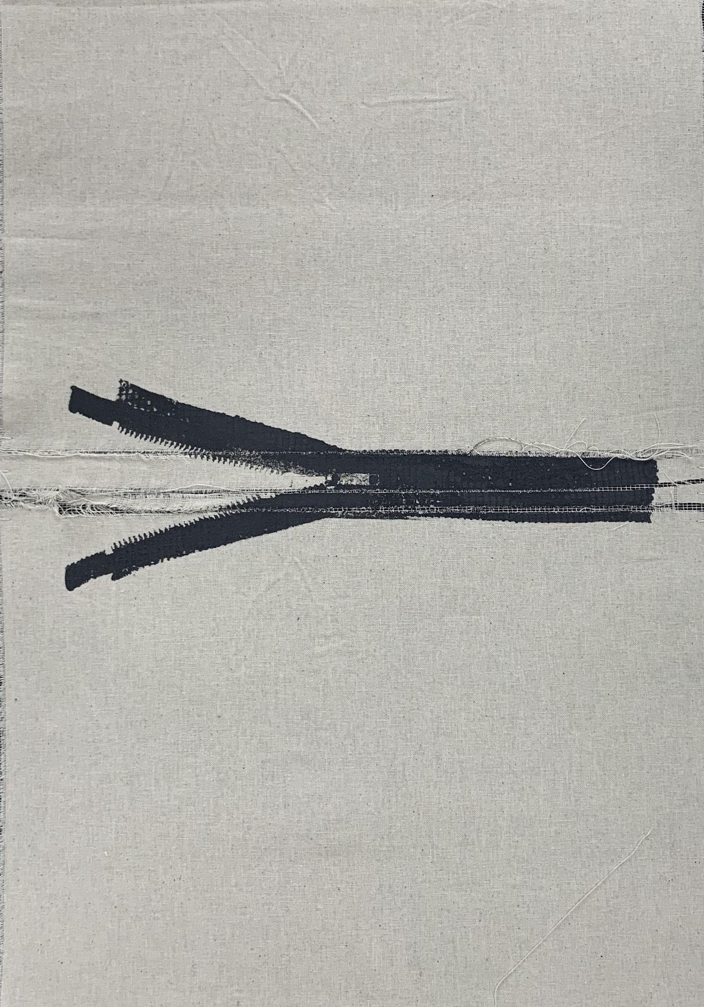 linksoffen1 | siebdruck auf stoff  | 42x29,7cm | 2018