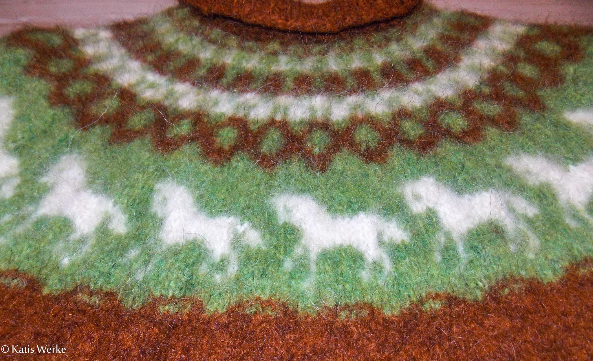 Die Borte des Pullovers