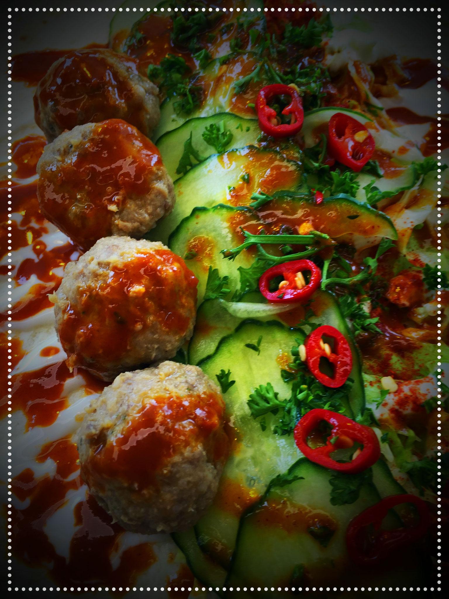 Yaprak - Fladenbrot gefüllt mit Meat Balls