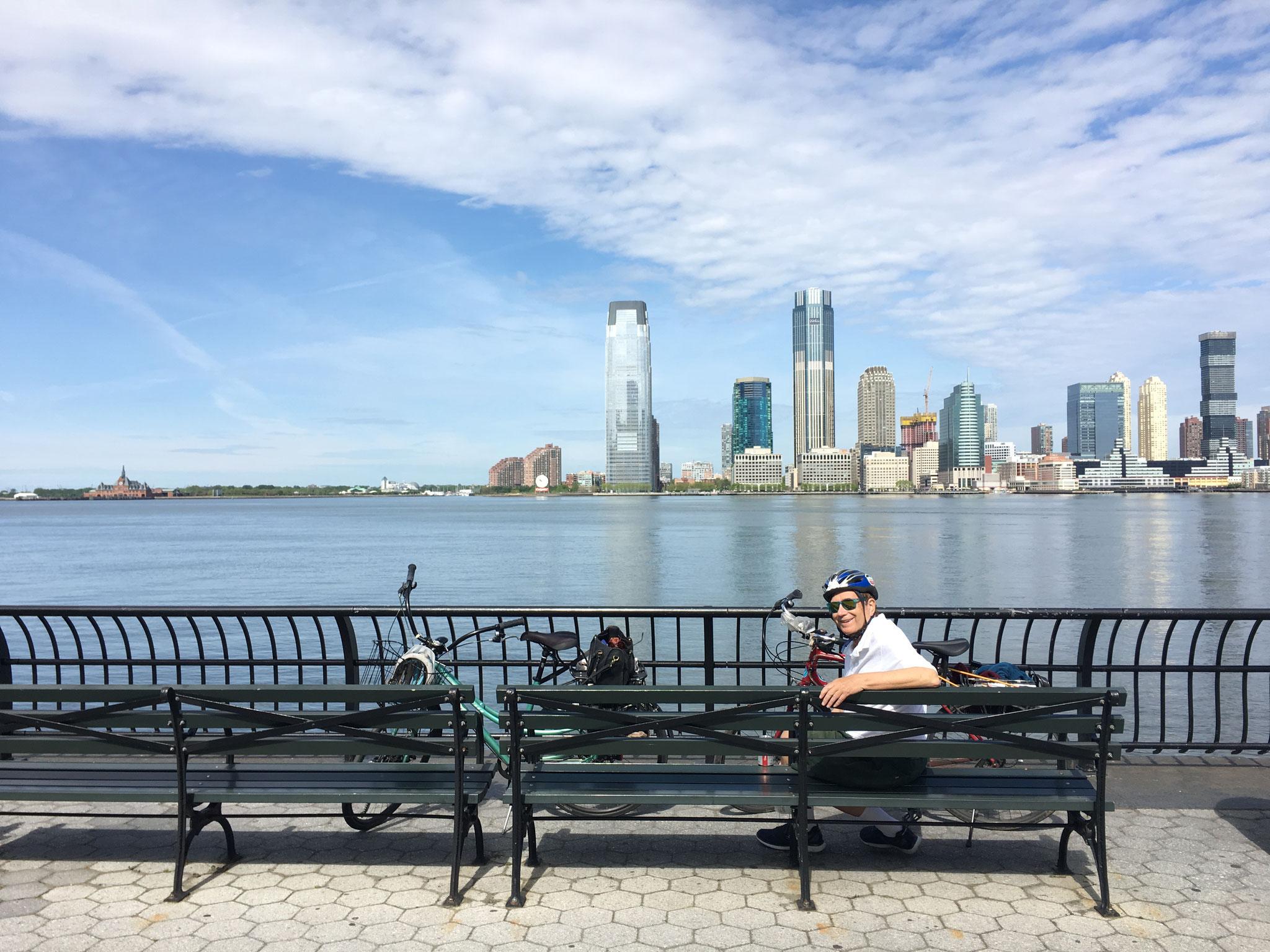 Biking around lower Manhattan, May, 2020