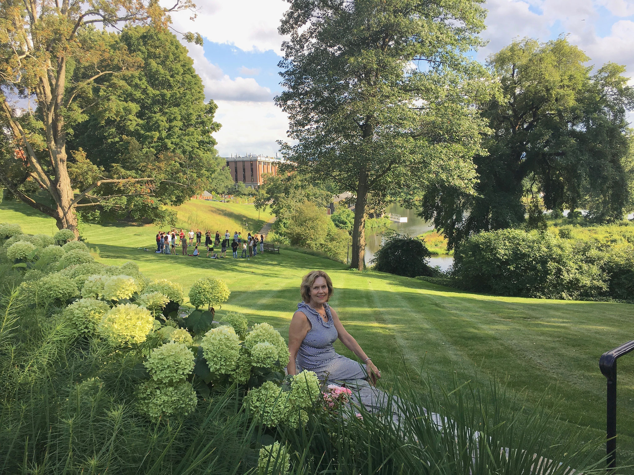 Lorraine on the Smith College campus, Aug. 30, 2019