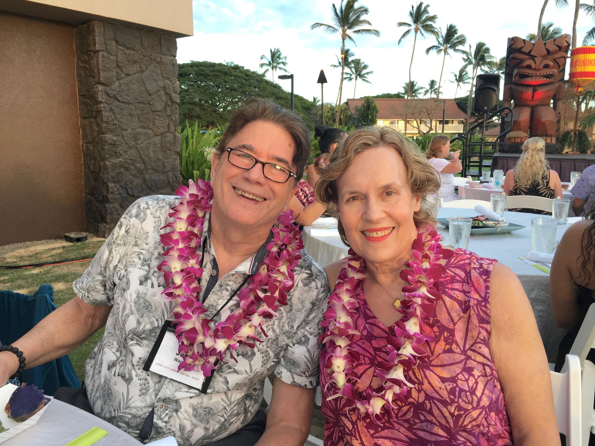 John & Lorraine on Kauai at a luau