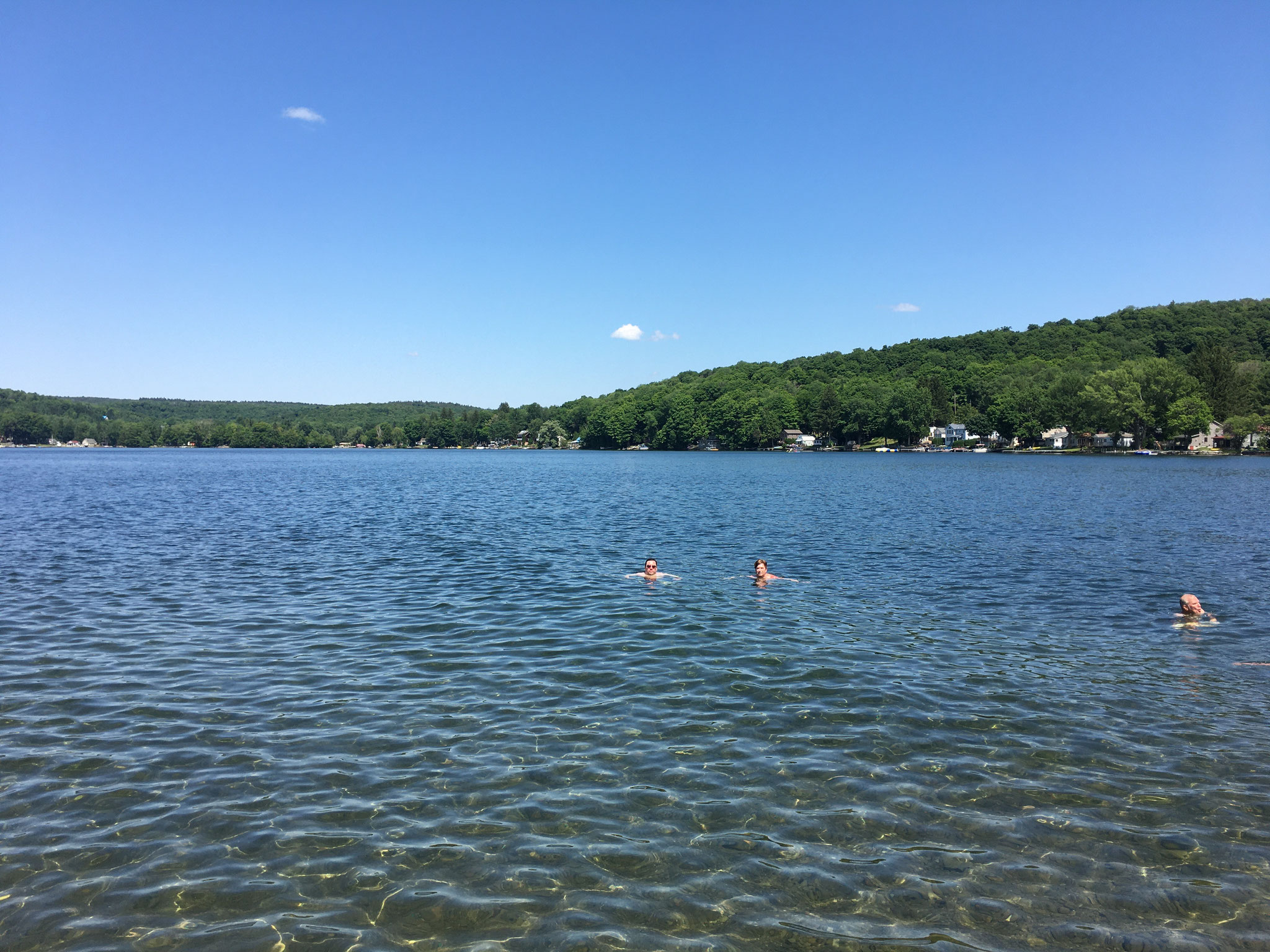 Greg & John swimming, 7-4-2020