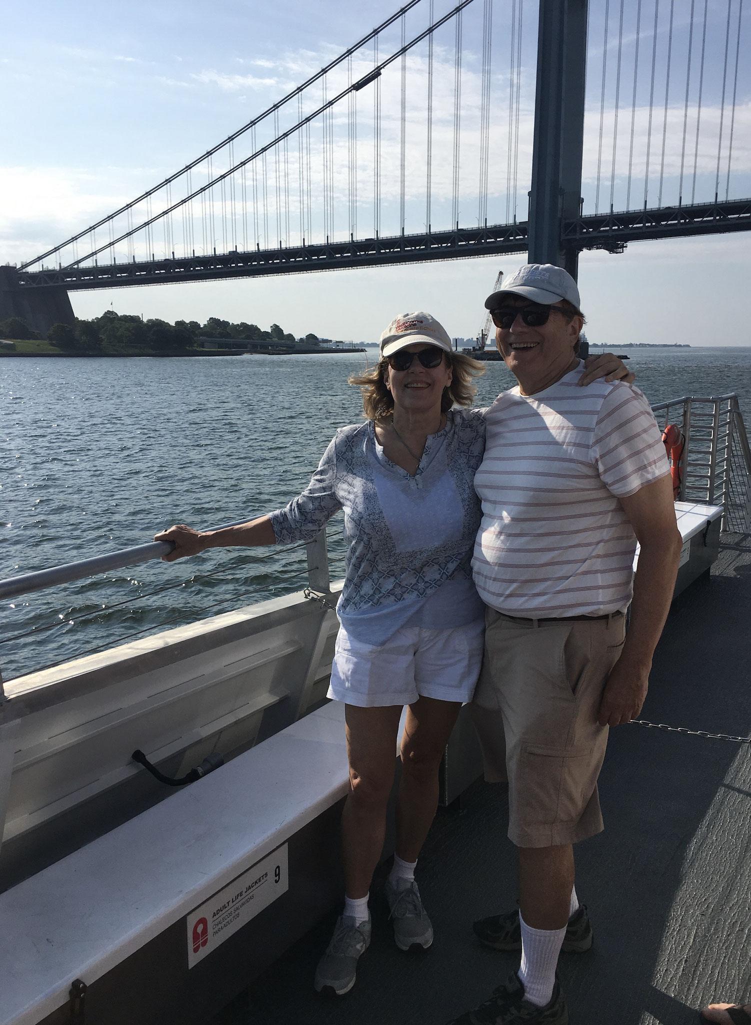 Trip by ferry to the Rockaways, July, 2019  John & Lorraine