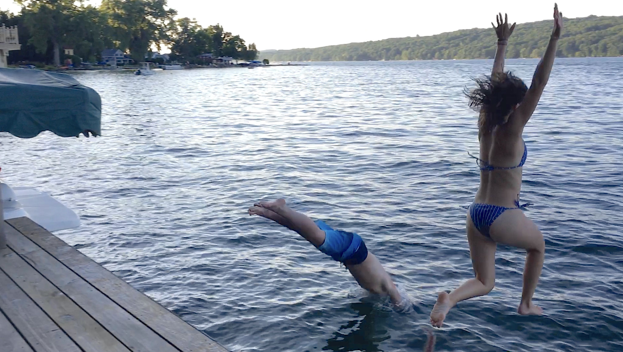 Stuart III & Ellie jump in together, 7-2020