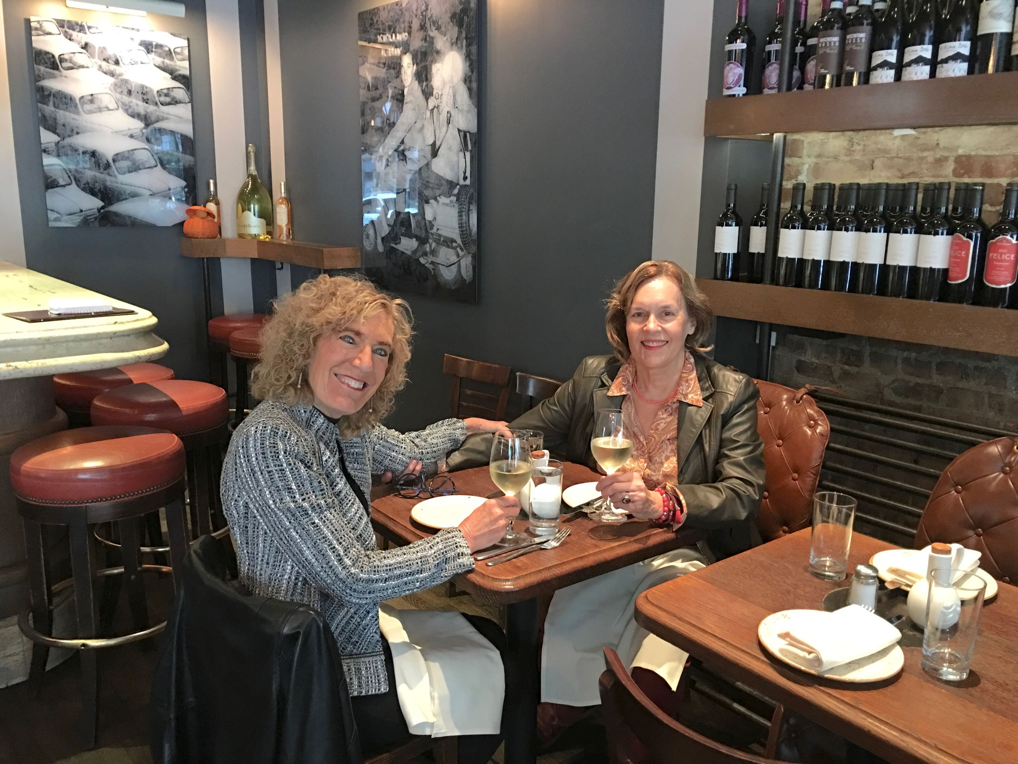 Drs. Elaine Fuchs & Lorraine Gudas, 10-2019 Lunch....Girls Rule II!