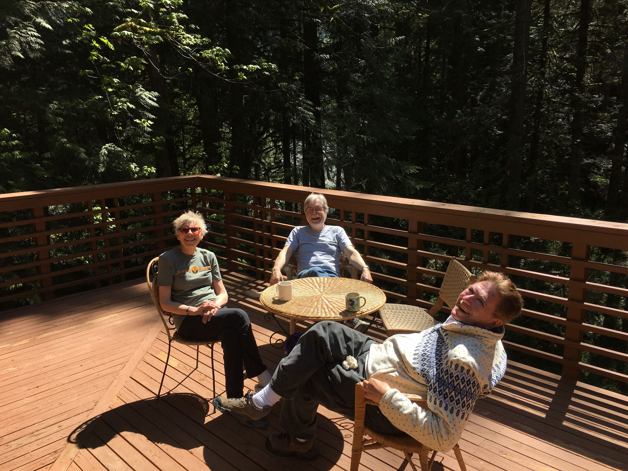 Seattle, May, 2019: Connie, Steve Carlson, & John at their country house