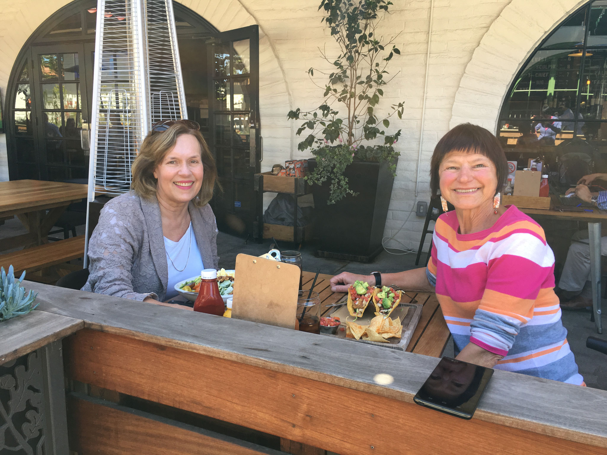 Lorraine & cousin Jean in Ventura, CA  March 2017