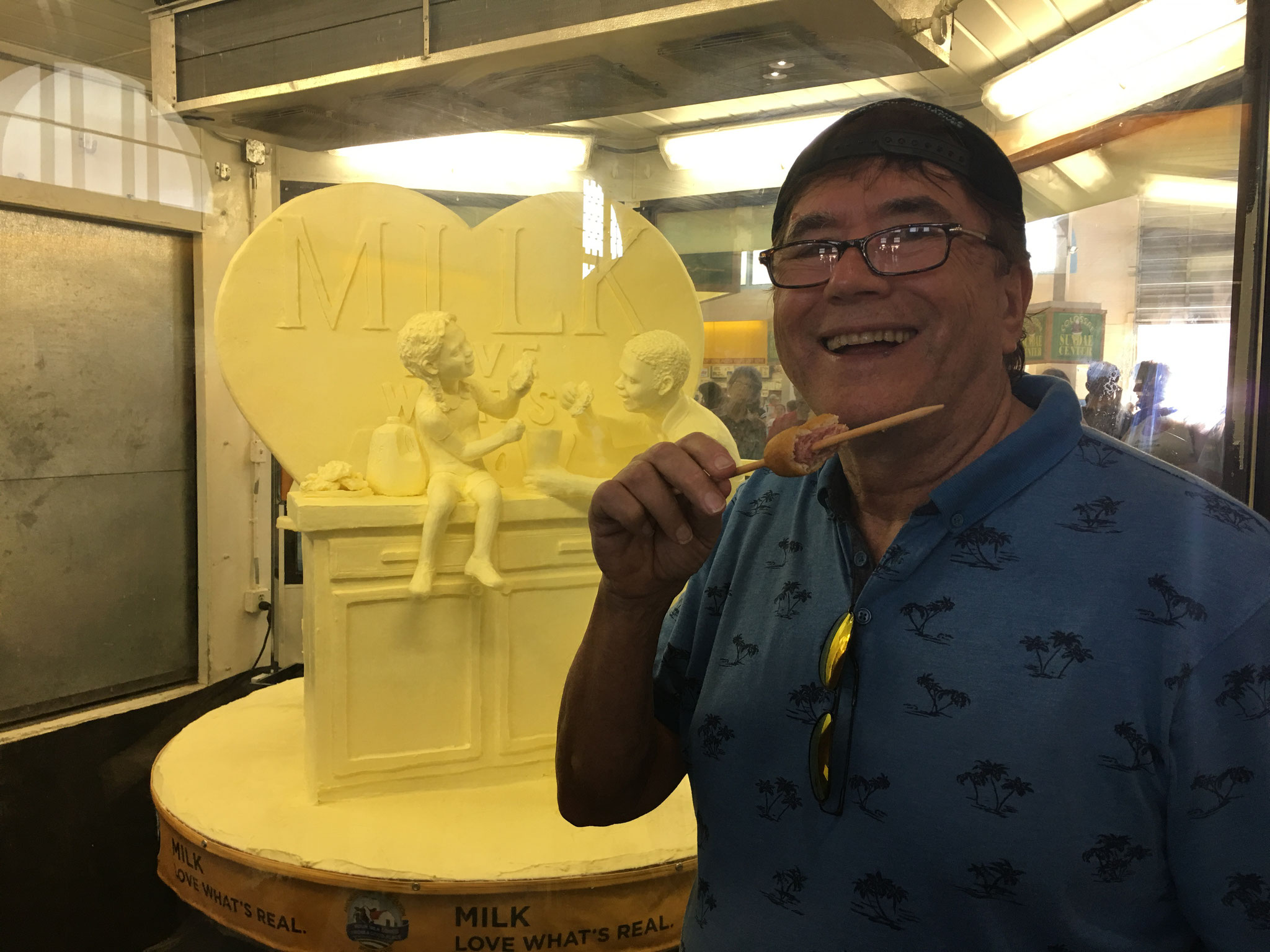 the New York State Fair, 2019  The butter sculpture