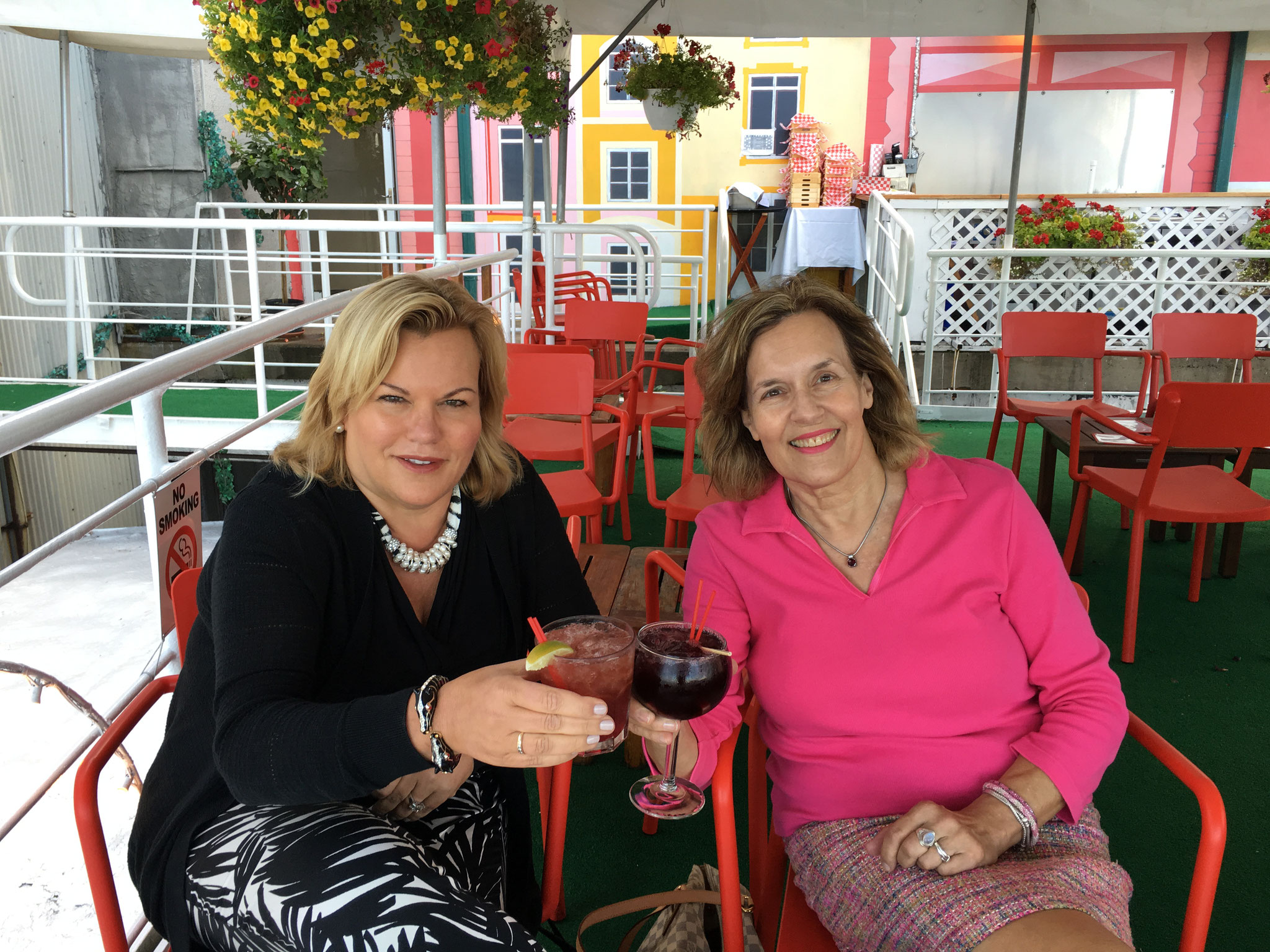 Celeste & Lorraine celebrate at the Water Club, 8-2-16 !!