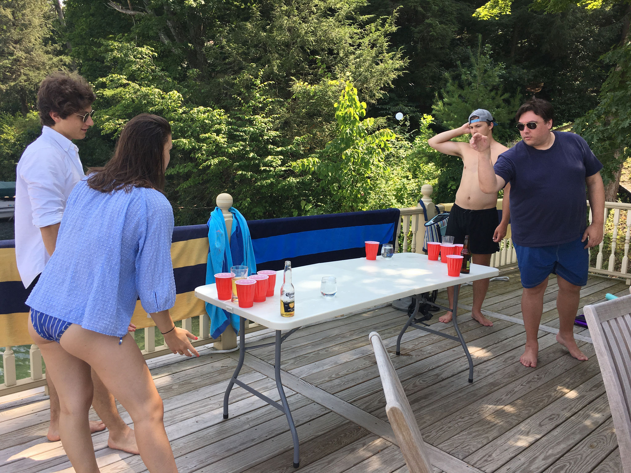 Playing Beer Pong