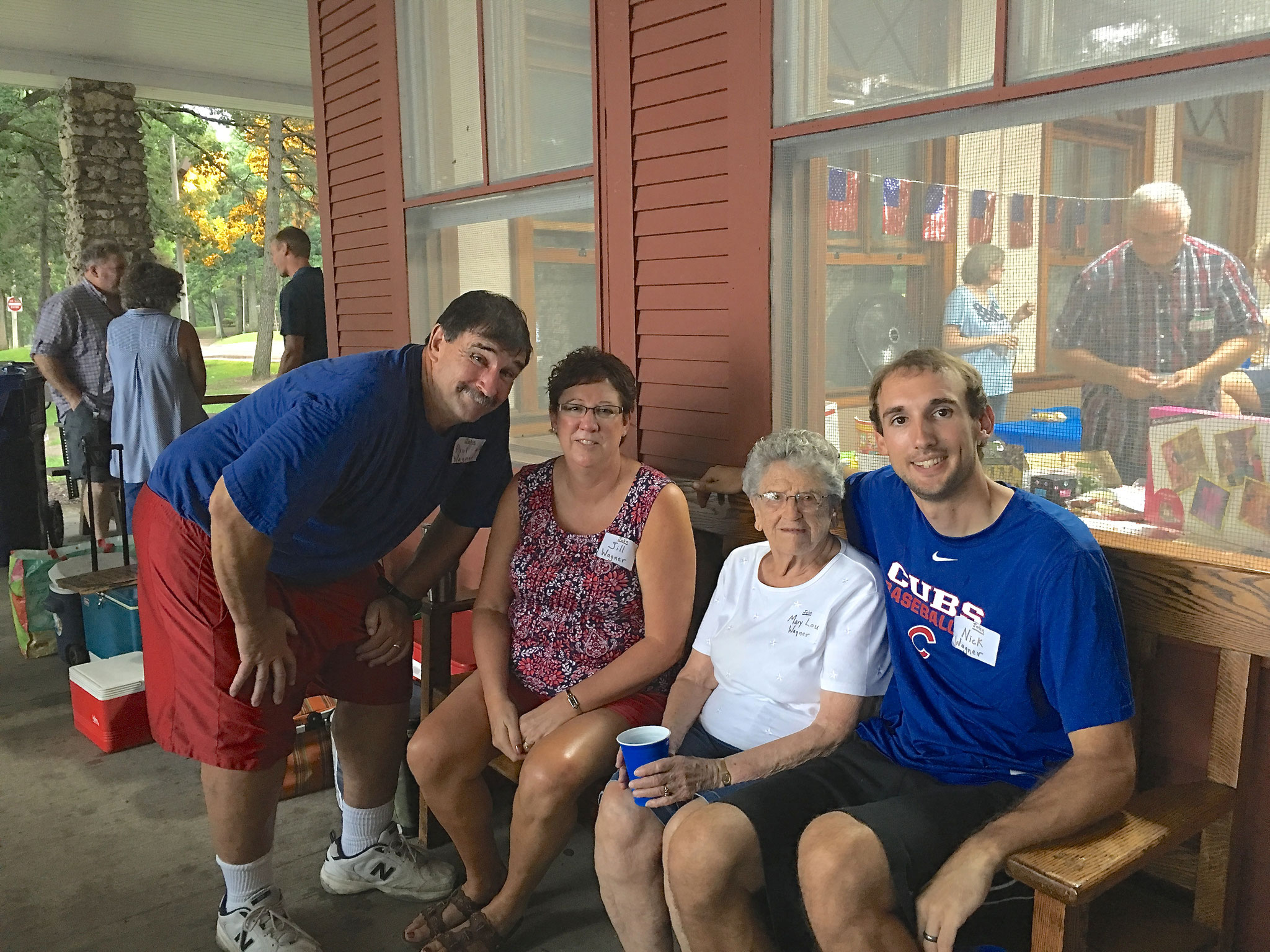 Paul and Jill Wagner with Mary Lou Wagner and Nick Wagner