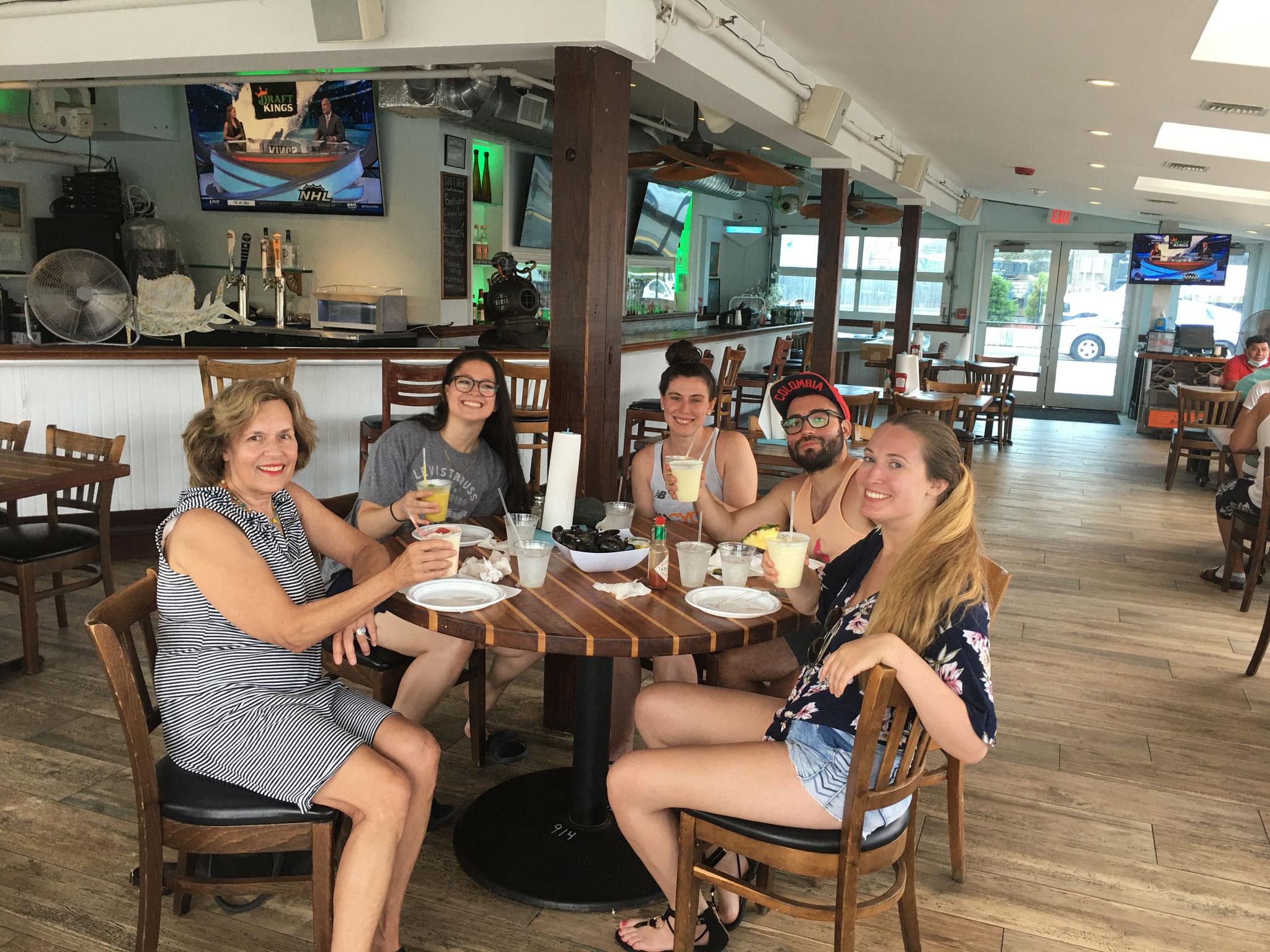 Lab Trip to the Beach-Lorraine, Mindy, Jackie, Jorge, & Krysta