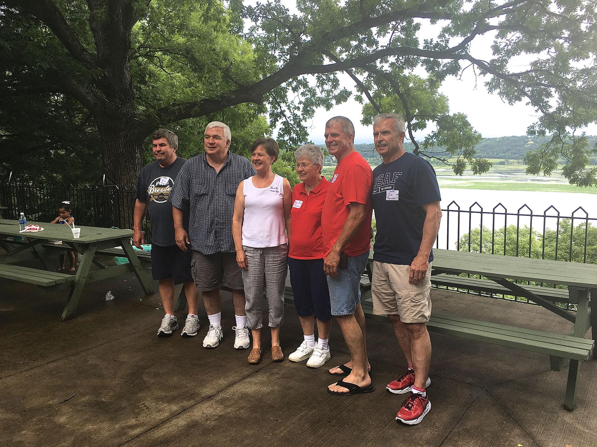 Ron, Steve, Donna, Mary Ann, Dave, and Jim Theisen