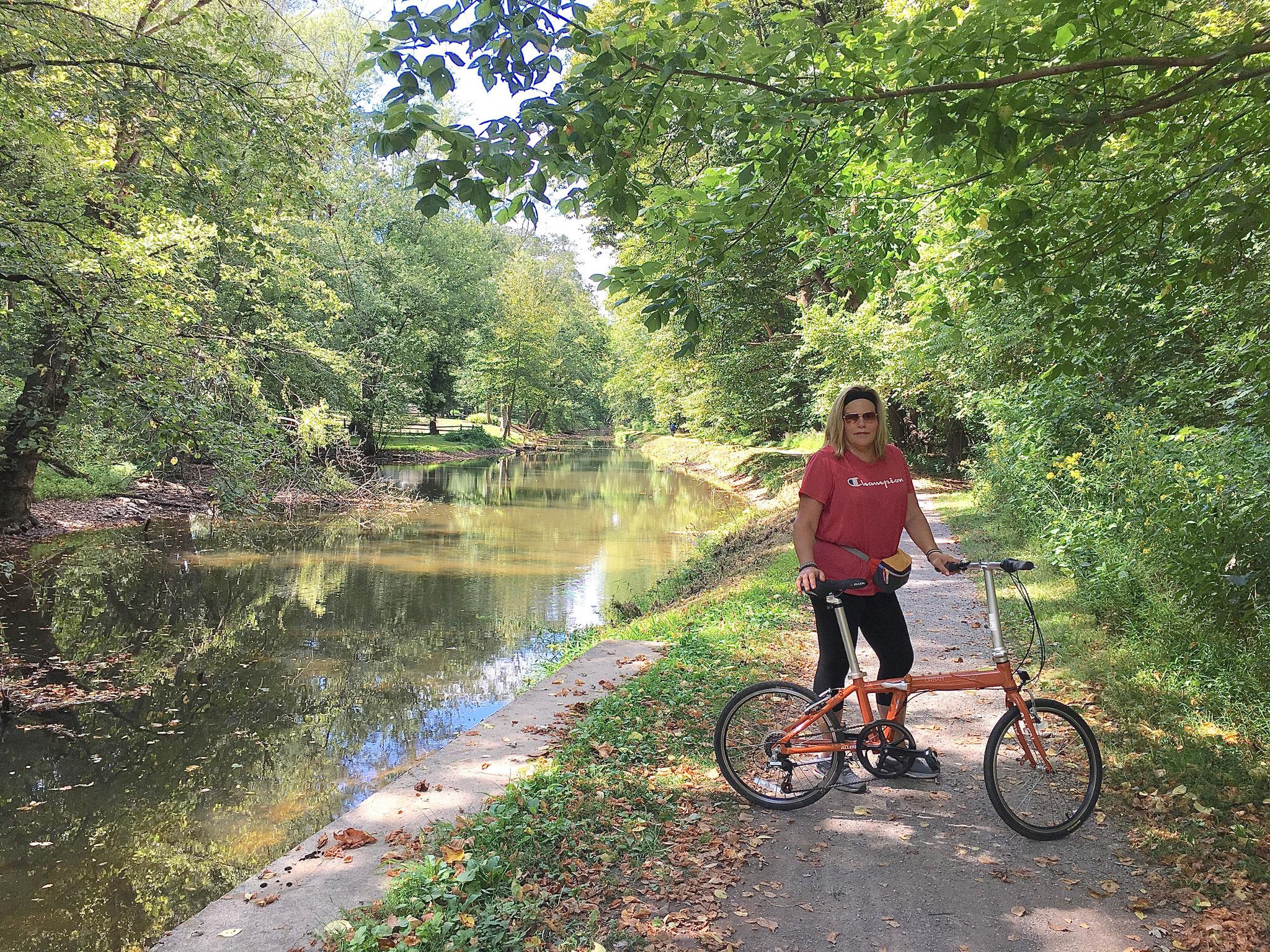 Sept. 7, 2019   biking along the Delaware River, Celeste