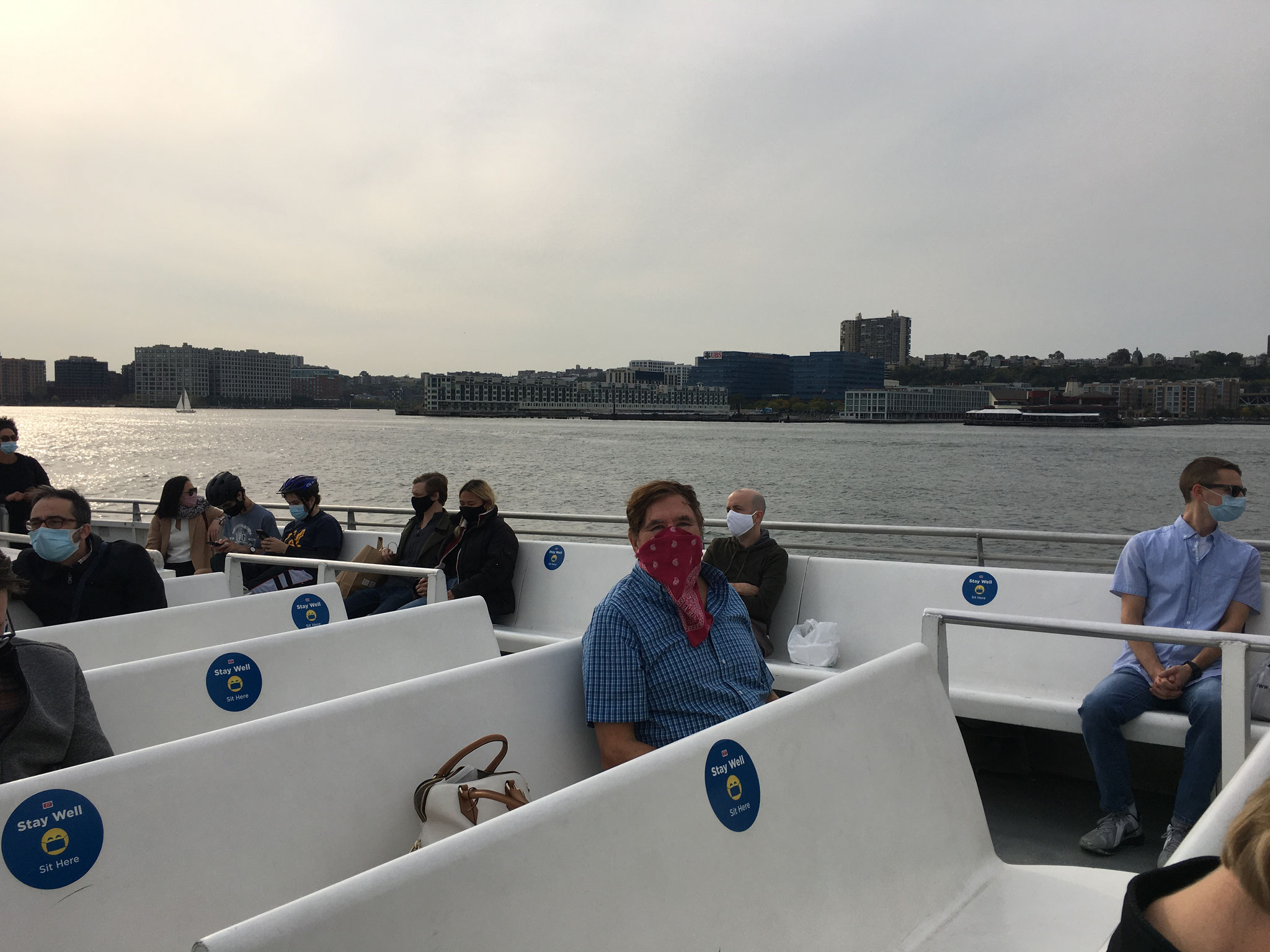 The Bandit, 23, on the Hudson River Ferry, NJ 10-10-20