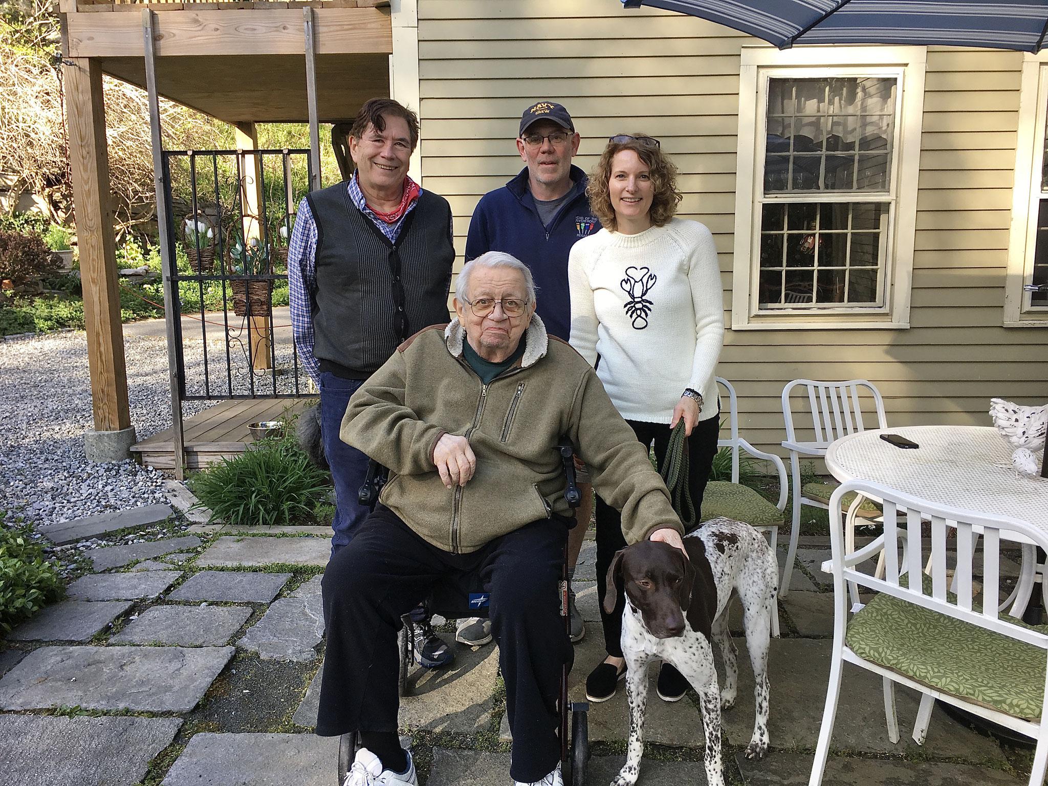John, Colin, Colin Jr., Lisa, and Tex, the new dog   5-1-2021