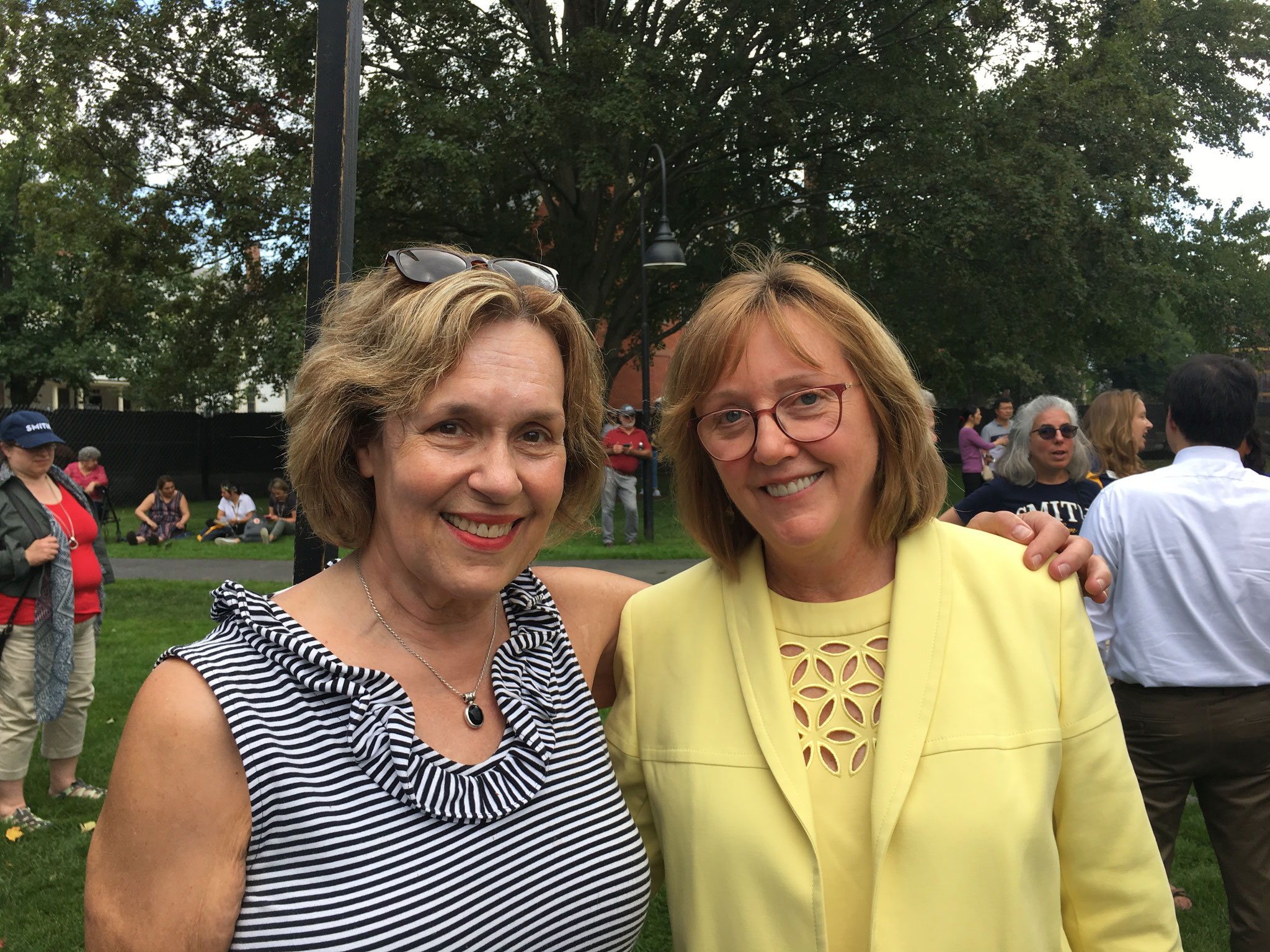Lorraine with the Smith College President, Dr. McCartney, 9-30-19