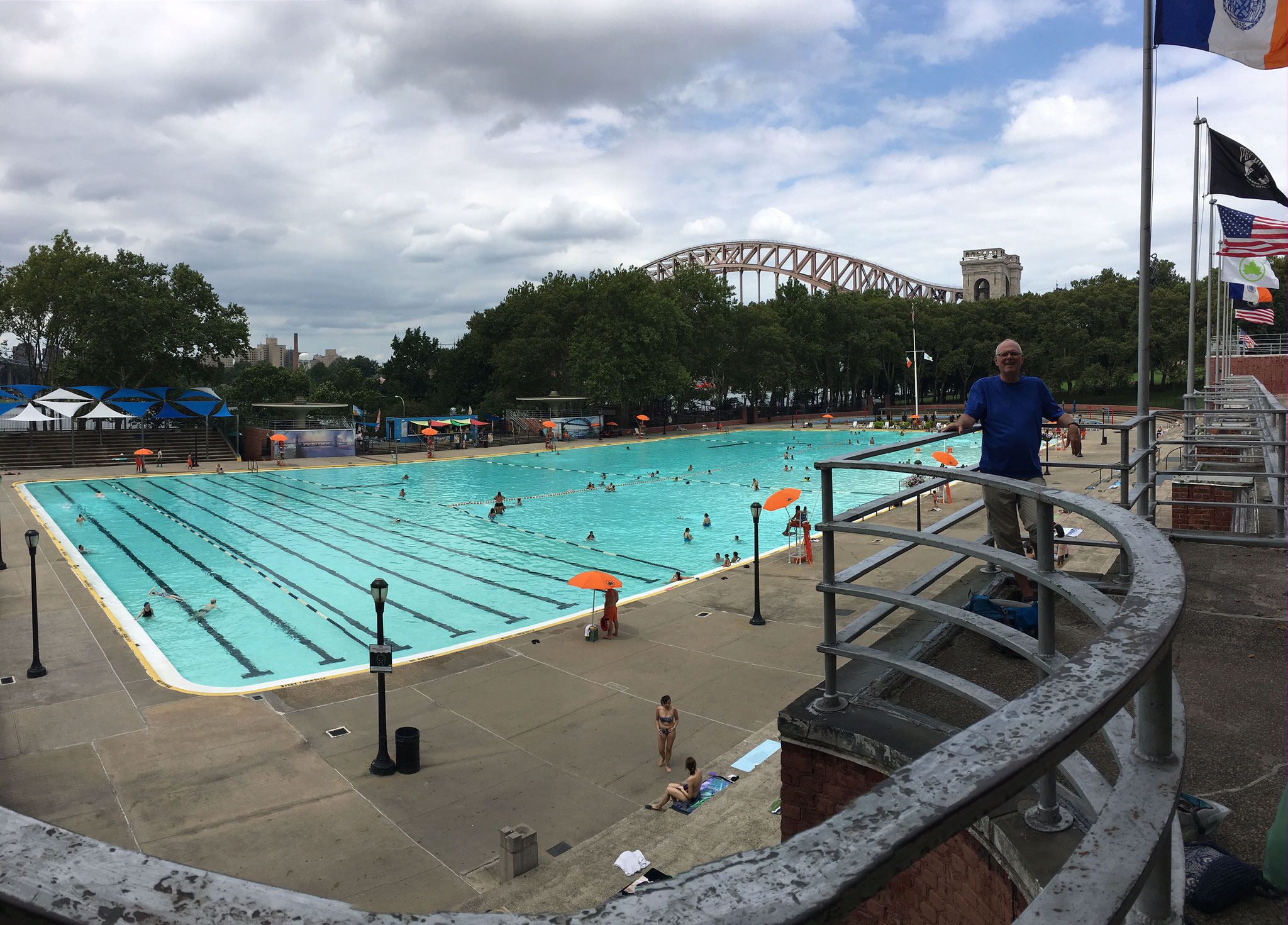 Bernd at the Astoria Pool, Queens, NYC  The  Pool Width is 50 meters!!