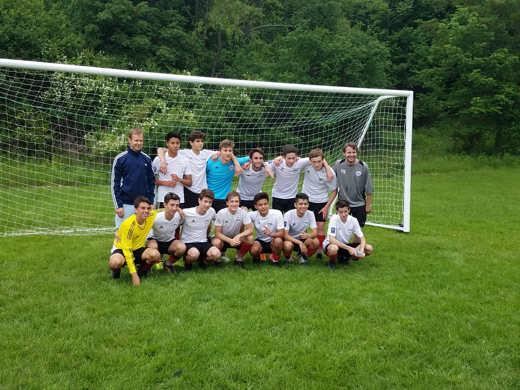 June 4, 2017 Jack's team won their division title in soccer today. Jack is in the blue top-he plays goalie. Congratulations to the team!