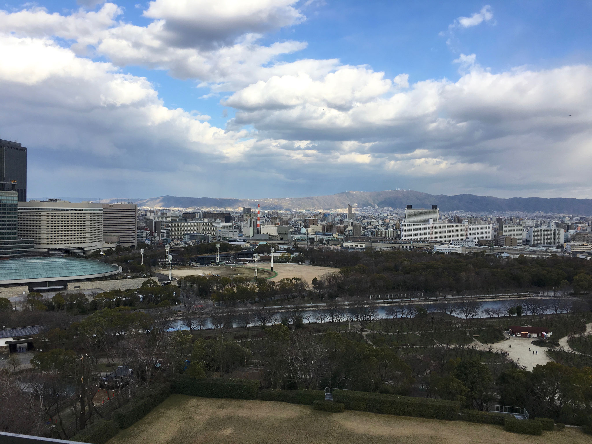 Views from the top of Osaka Castle.