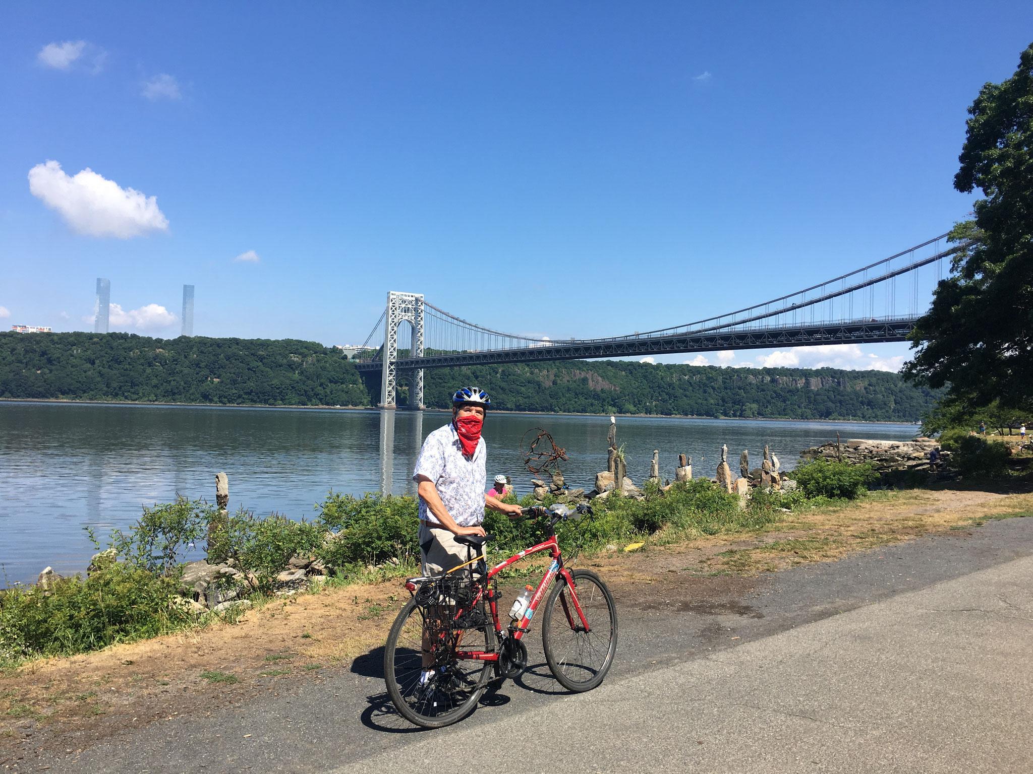 Biking around upper Manhattan, June, 2020