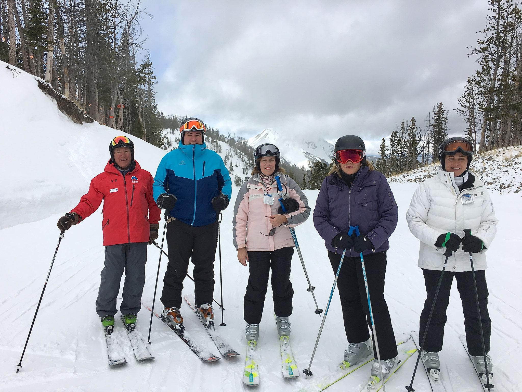 Dick Fast, Greg, Lorraine, Celeste, Allie Big Sky 2017