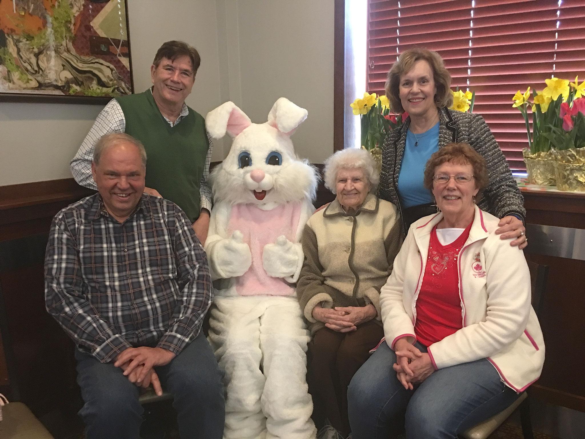 Cousin Tom,  John, BUNNY, Detta, Lorraine, & Karen Gudas, April, 2019 , Warwick, RI