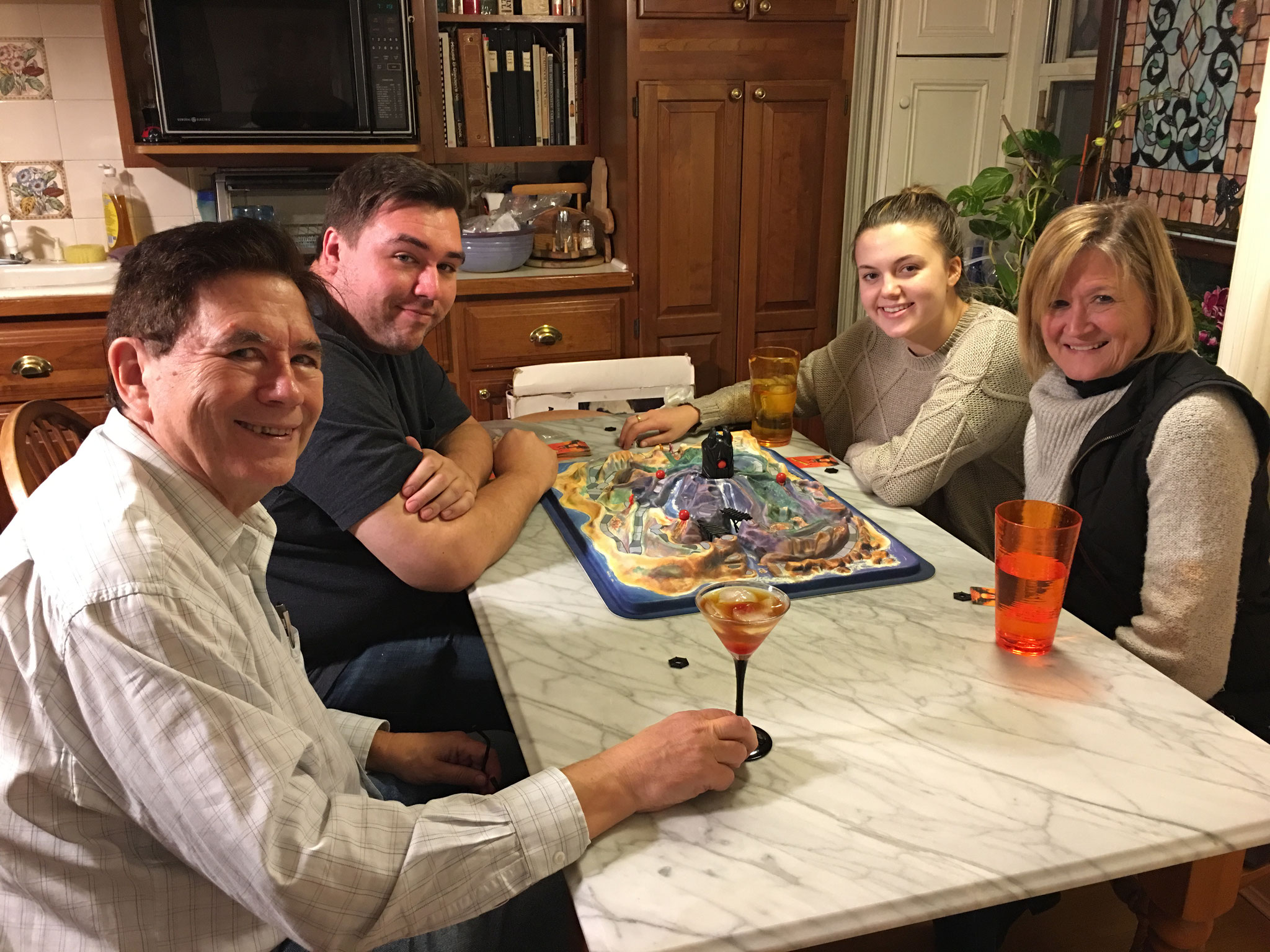John, Greg, Kate & Sally Schwarz, Dec. 2018, NYC