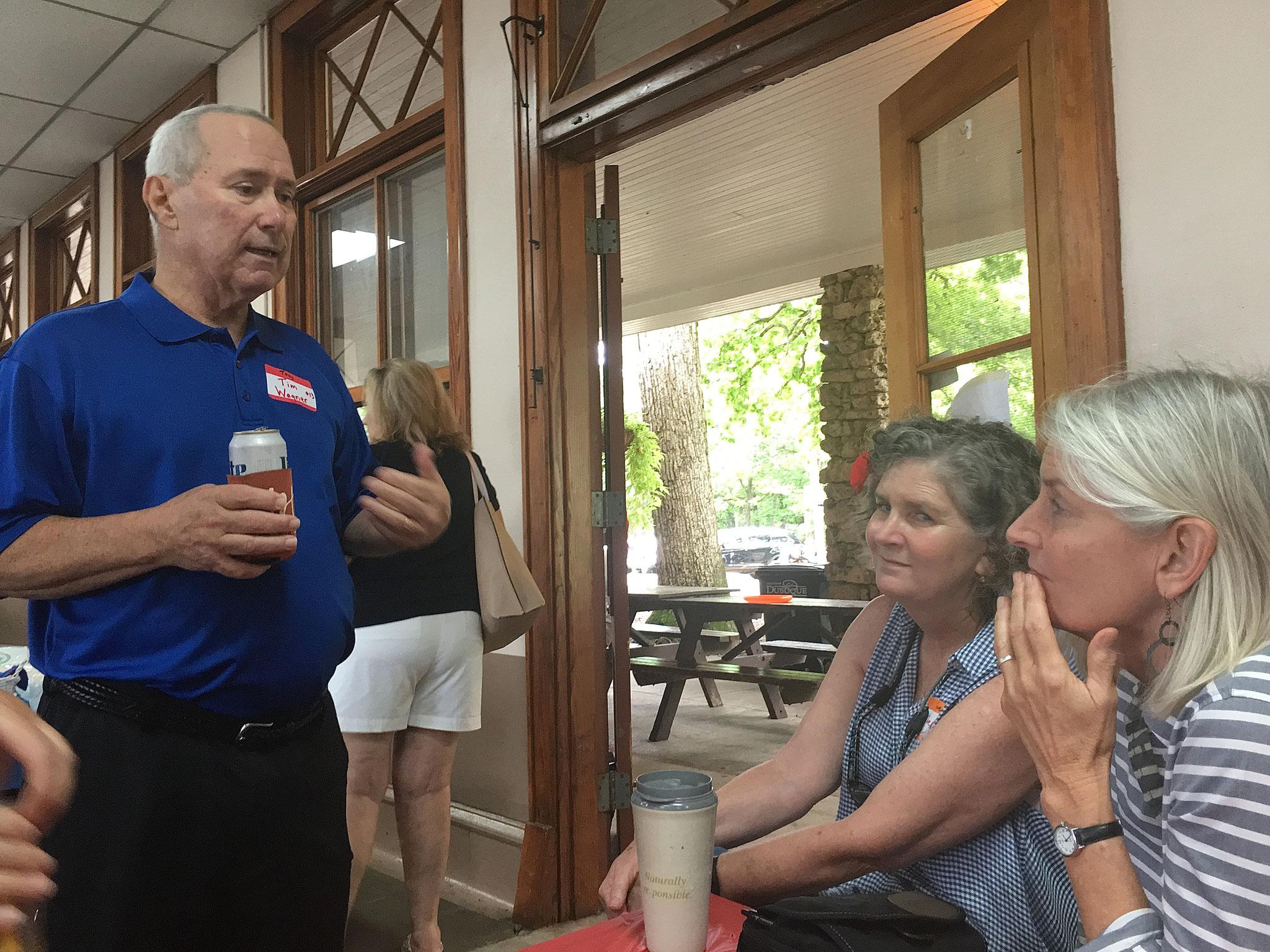 Tim Wagner talks to Jane Elinson and Kathy Schmidt