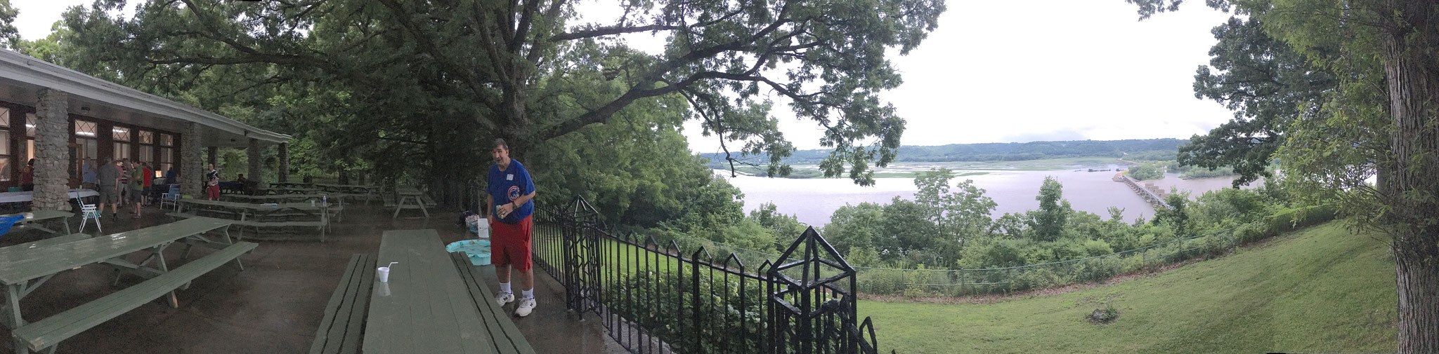 Paul Wager in a Pano view of the Mississippi.