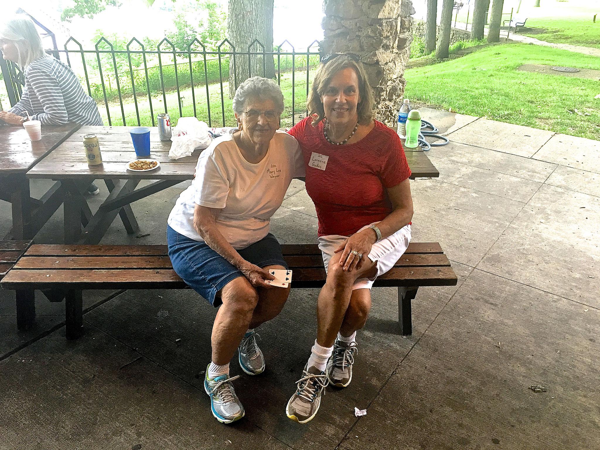 Mary Lou Wagner and Lorrine Gudas