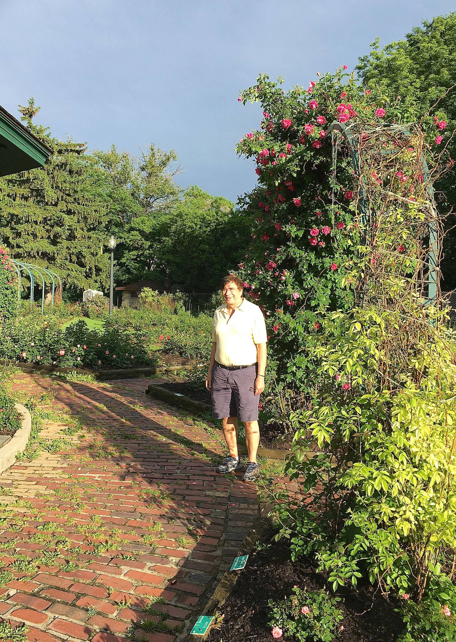 John in the rose garden at Thornden Park June 5, 2016 Syracuse, NY
