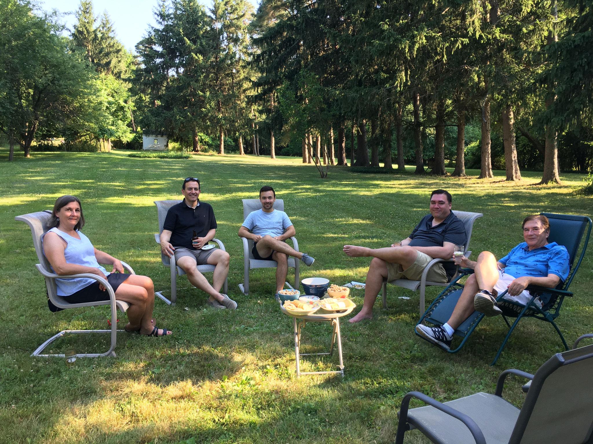 Cyndi, Nick, Trevan, Greg, & John  7-2020 Syracuse, NY