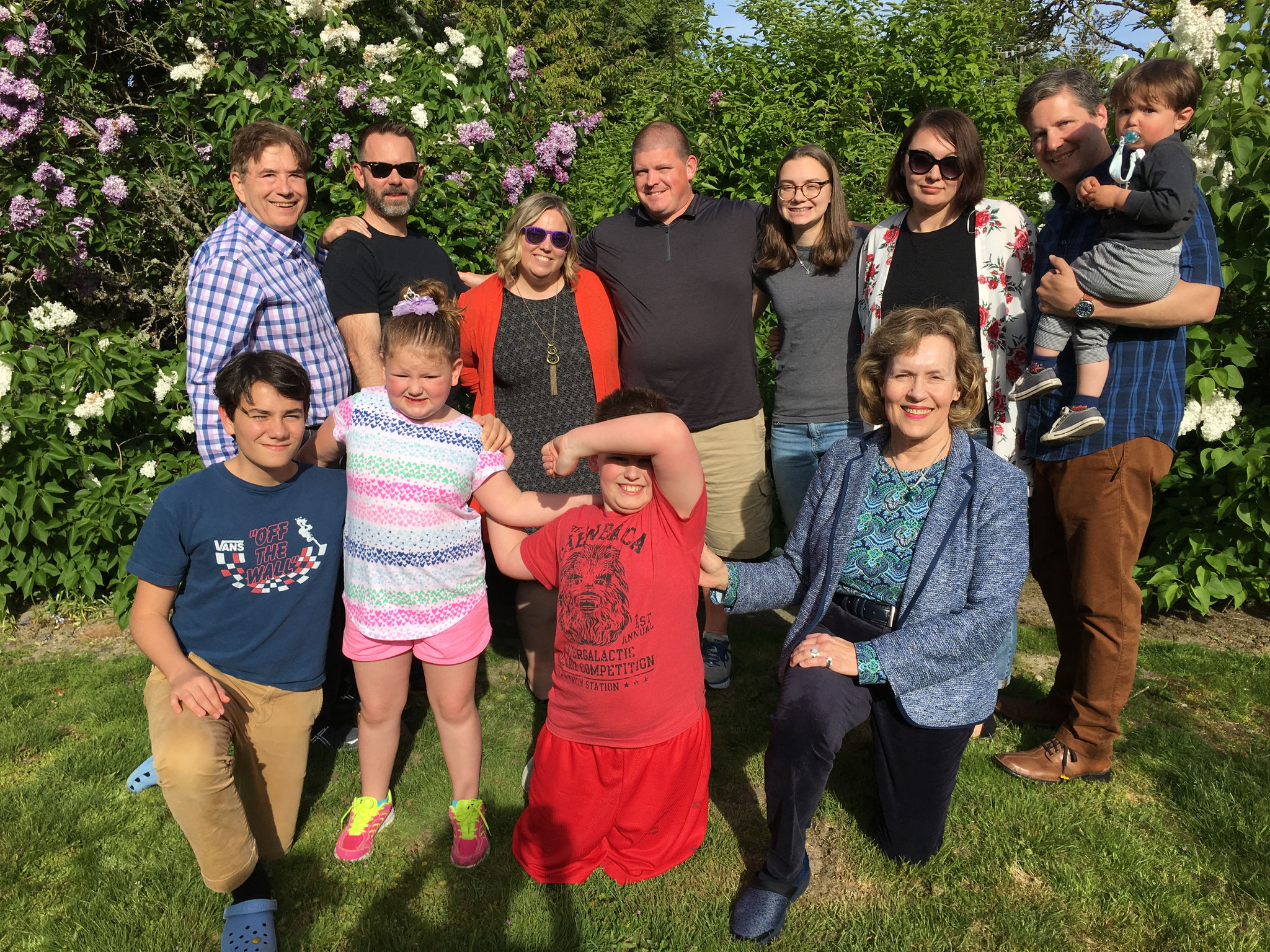 Visiting with Meg, Erin & Stephen & families, Seattle, WA May, 2019