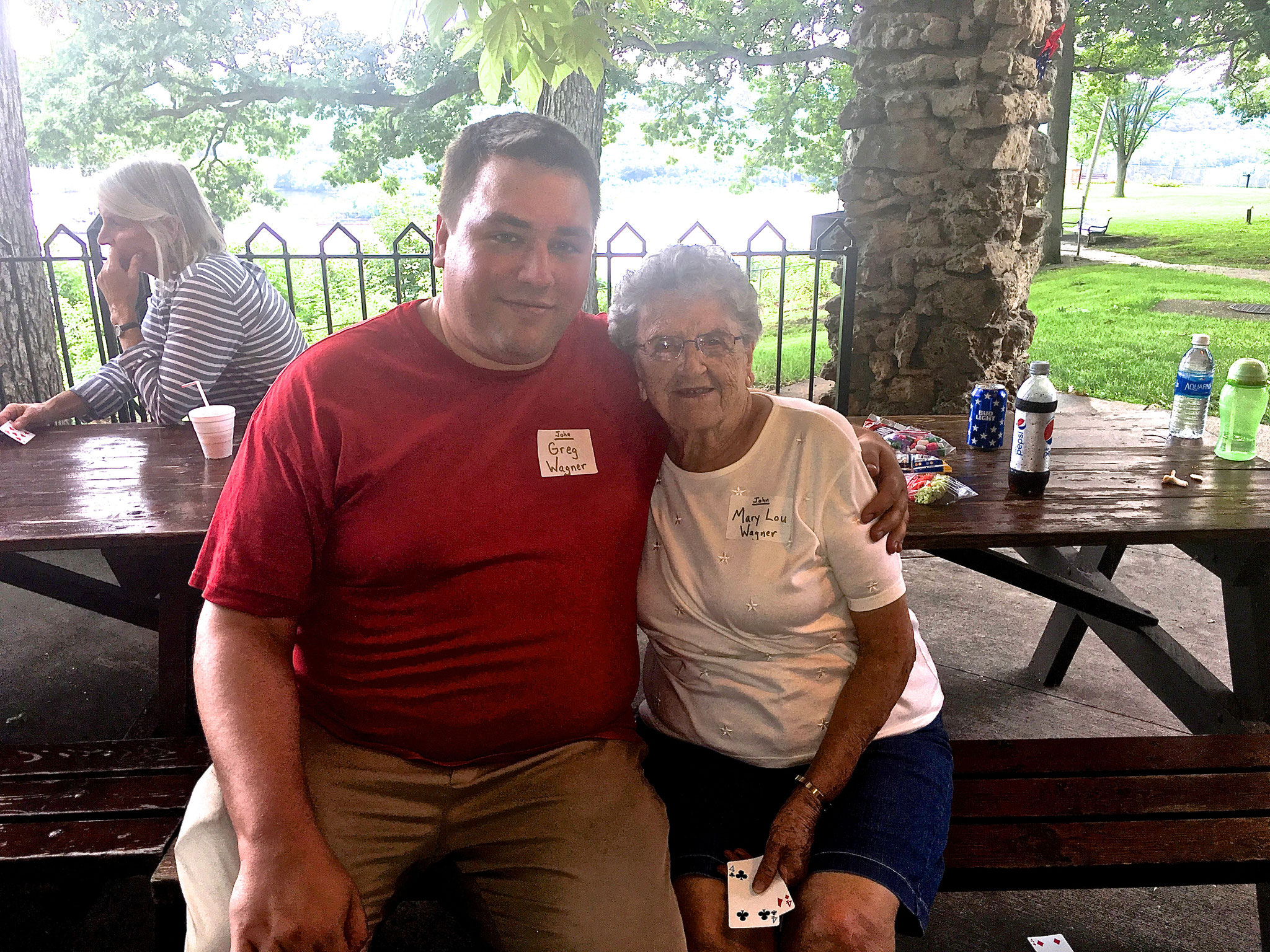 Greg Wagner with his grandmother Mary Lou Wagner