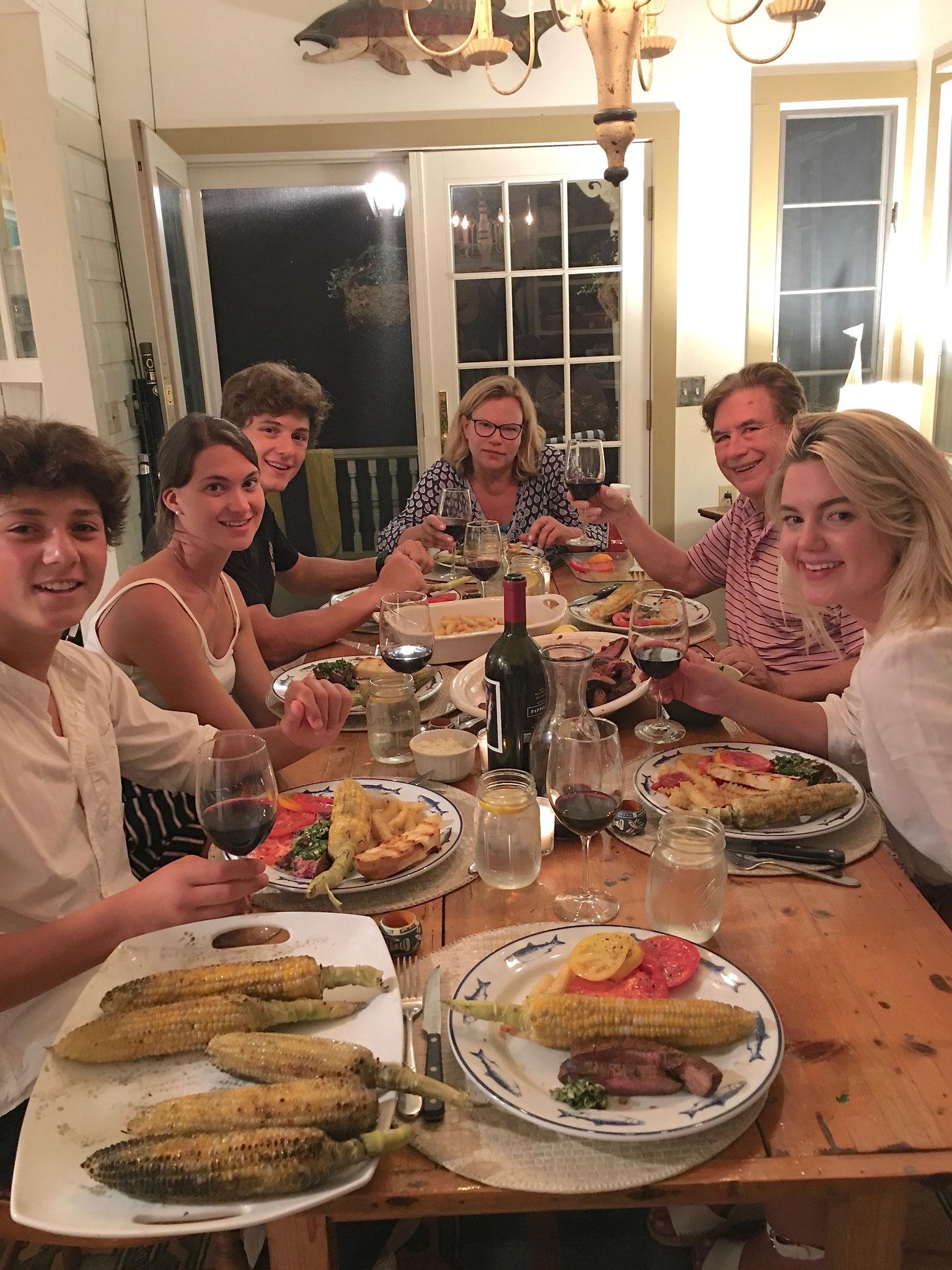 Dante, Ellie, Dino, Celeste, John & Kate  8-2020 Skaneateles Lake