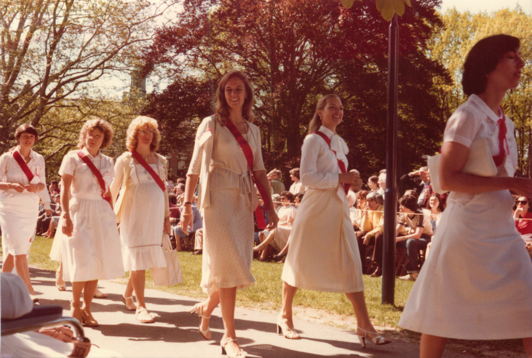 Brooke Newell walking in  10th anniversary parade, Smith College